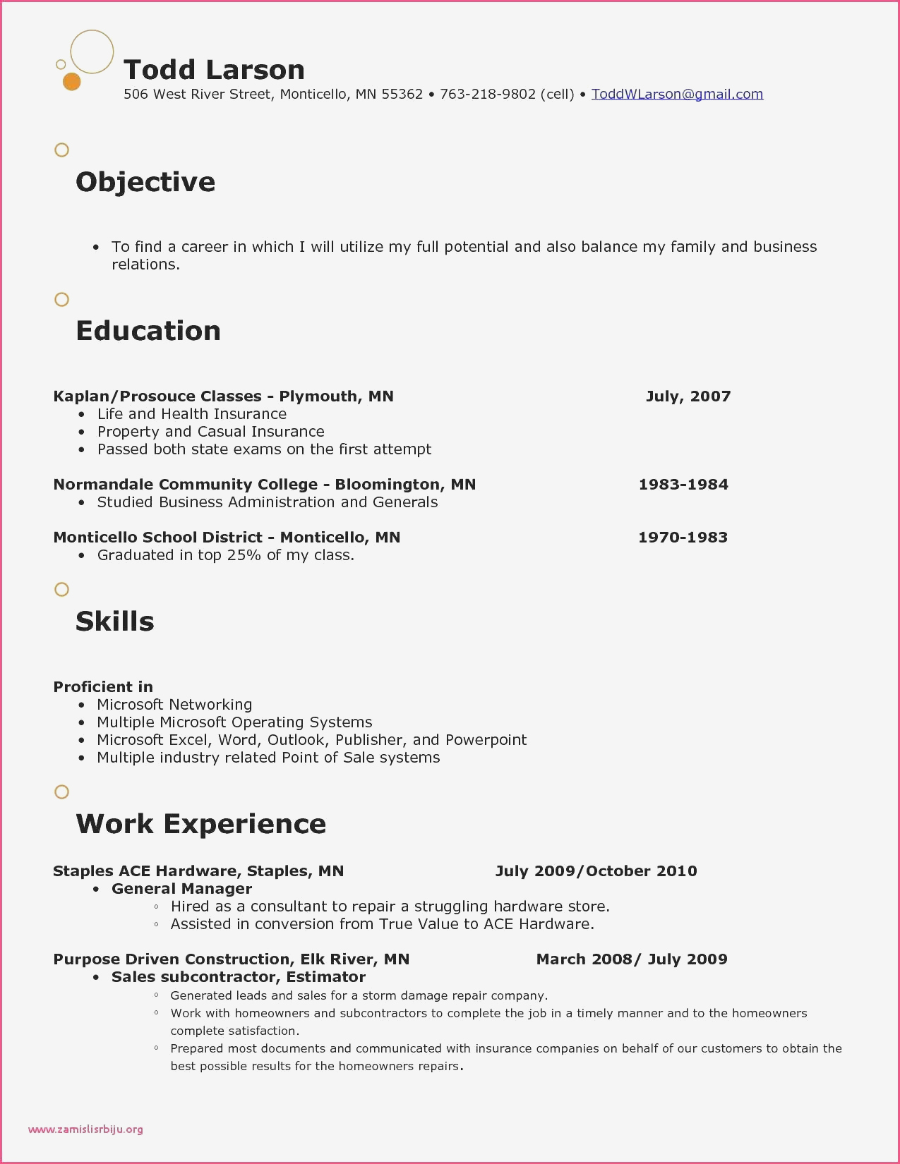 Retail Store Resume - Store Manager Retail Sample Resume