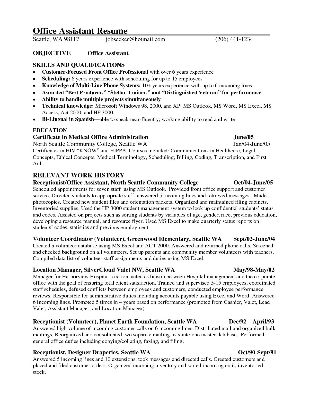 Reverse Chronological Resume - 21 Reverse Chronological order Resume