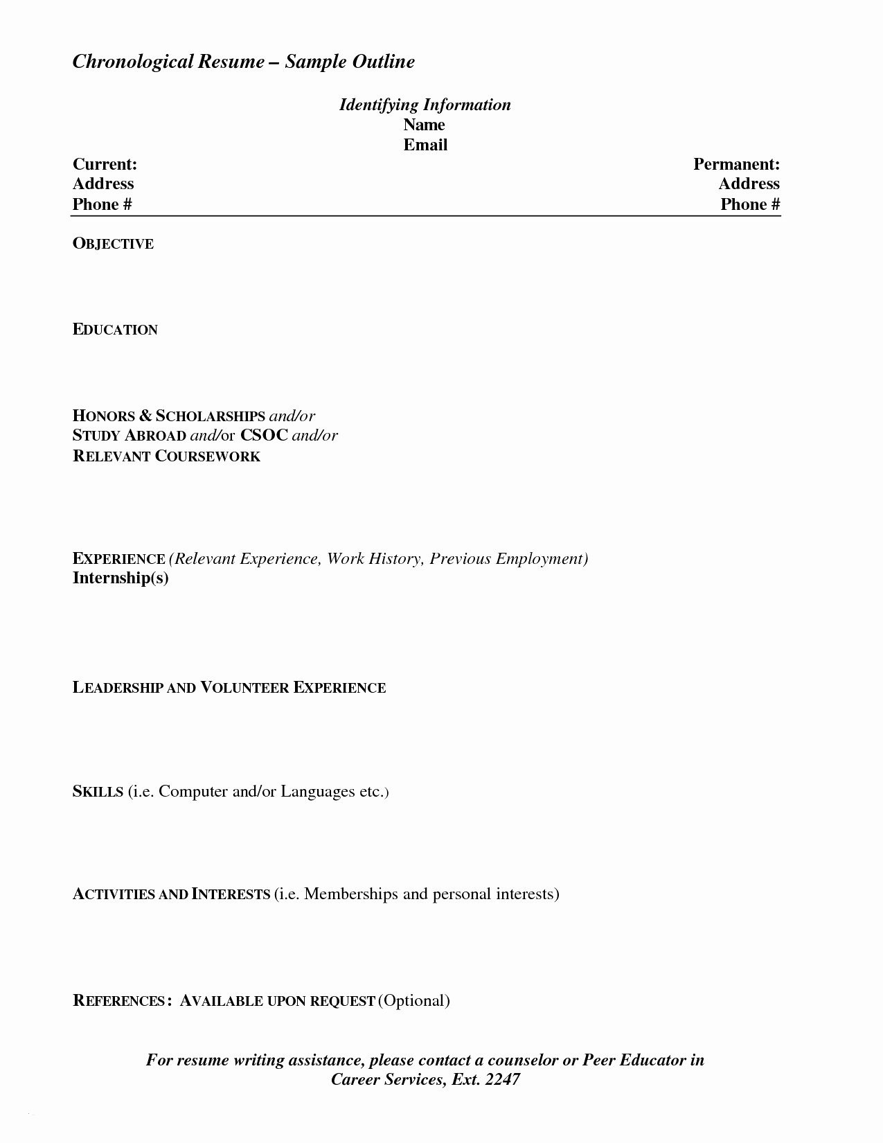 Reverse Chronological Resume Template Word - Example Chronological Resume Paragraphrewriter