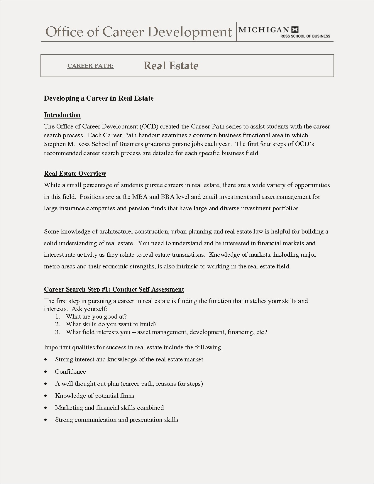 Ross School Of Business Resume Template - Real Estate assistant Resume New Ross School Business Resume