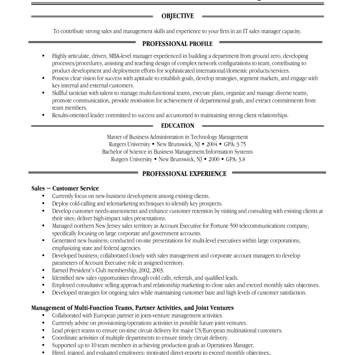 Rutgers Business School Resume Template - 40 Wonderful Chrono Functional Resume Template Graph A9k