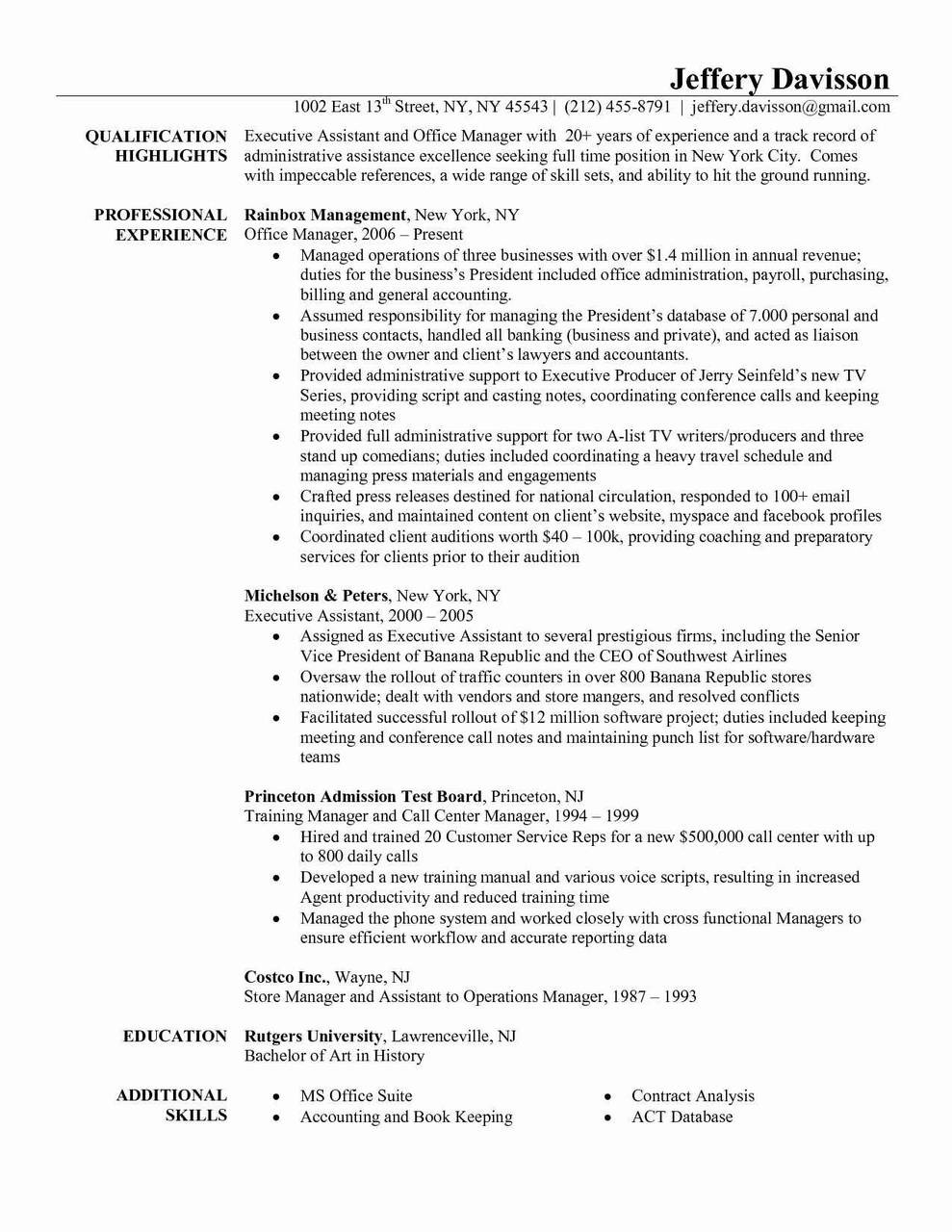 Rutgers Resume Template - Princeton Resume Template Refrence Realtor Job Description Resume