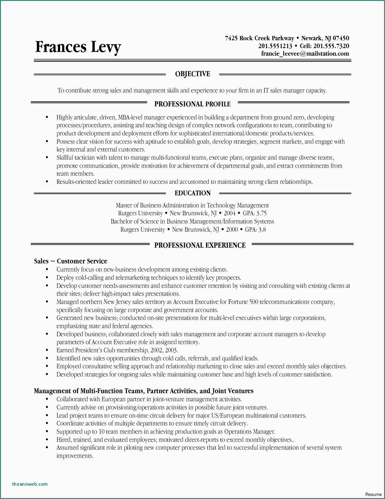 13 rutgers resume template collection