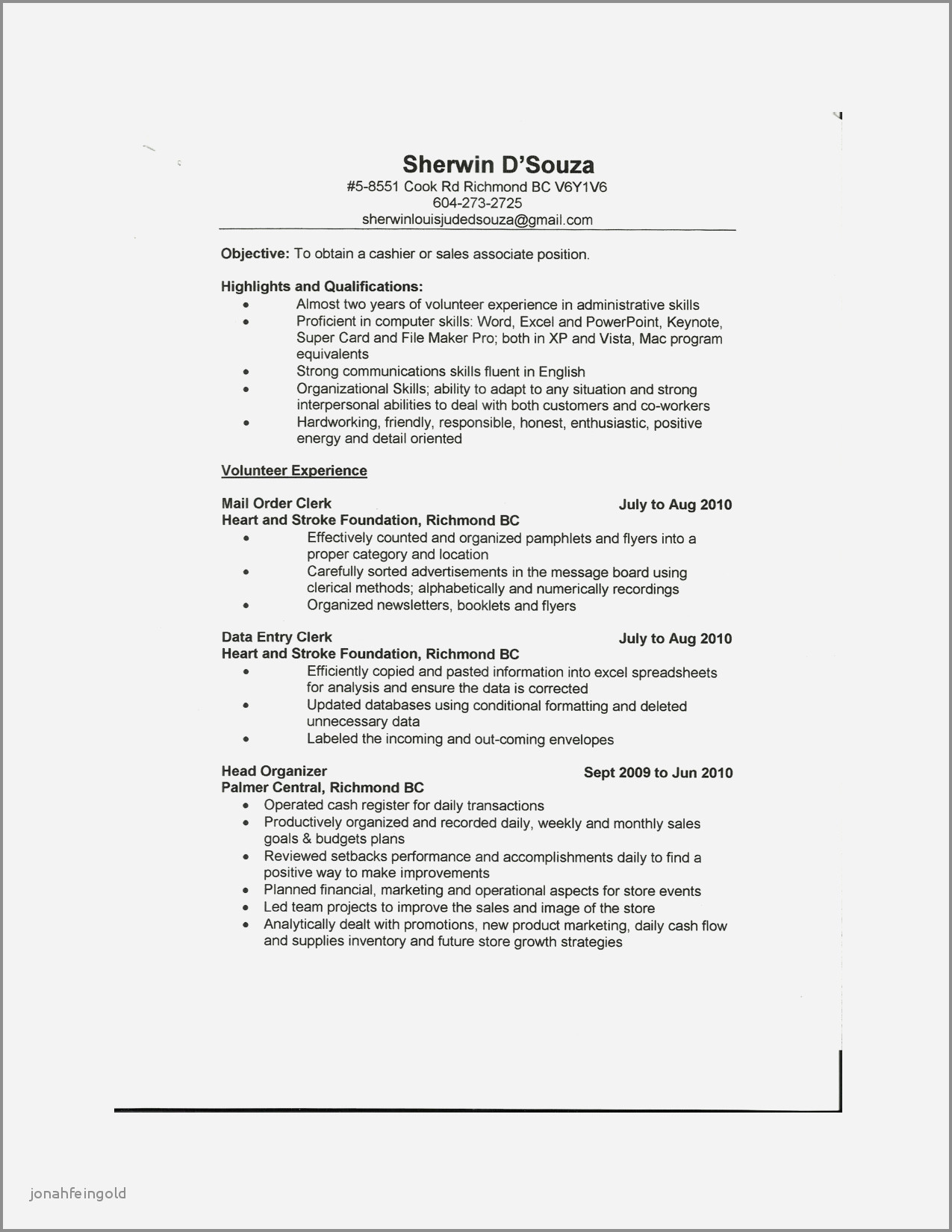 Sale associate Resume - Sales associate Duties Resume Resume Examples for A Retail Sales