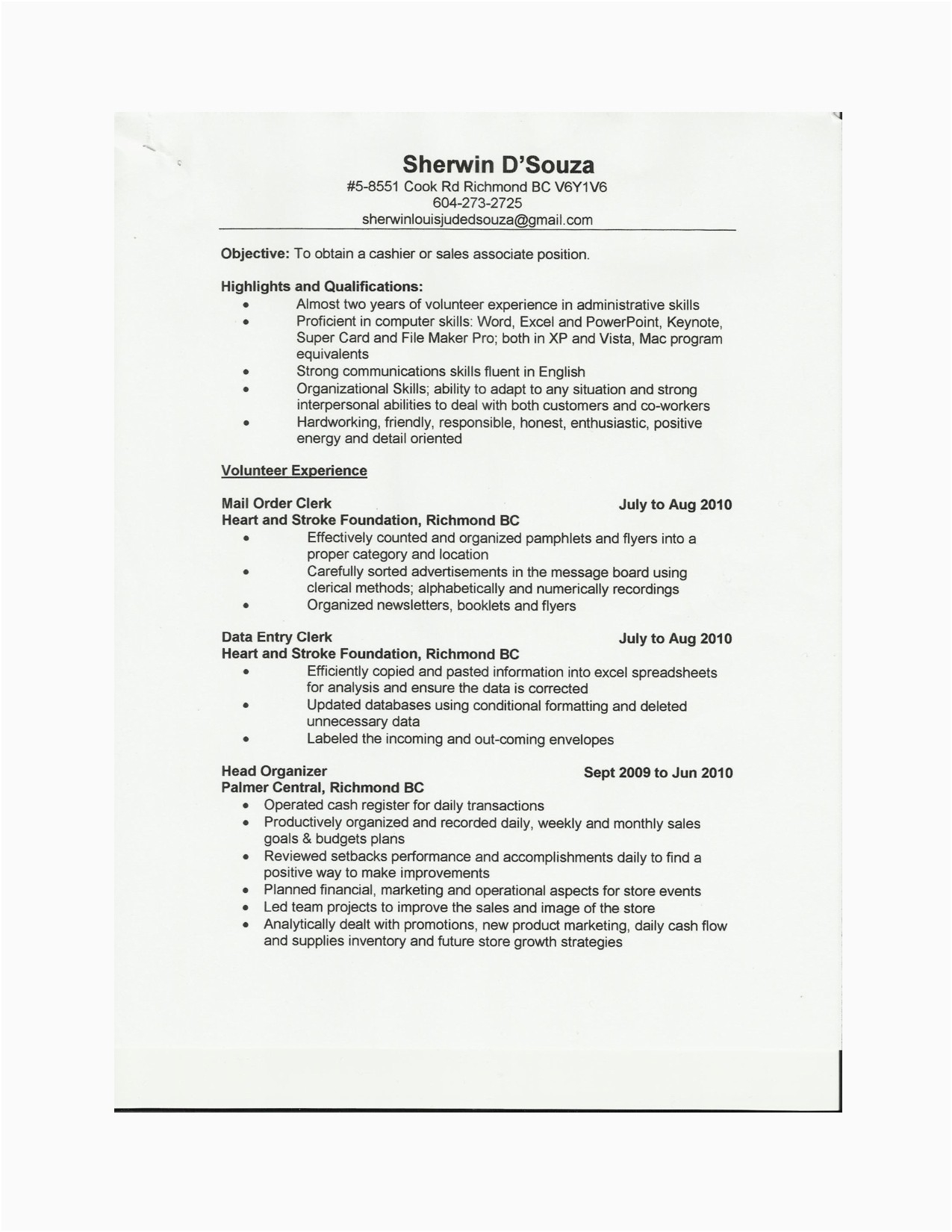 Sales associate Resume Template - Resume Examples for Sales associate Fresh Retail Sales associate