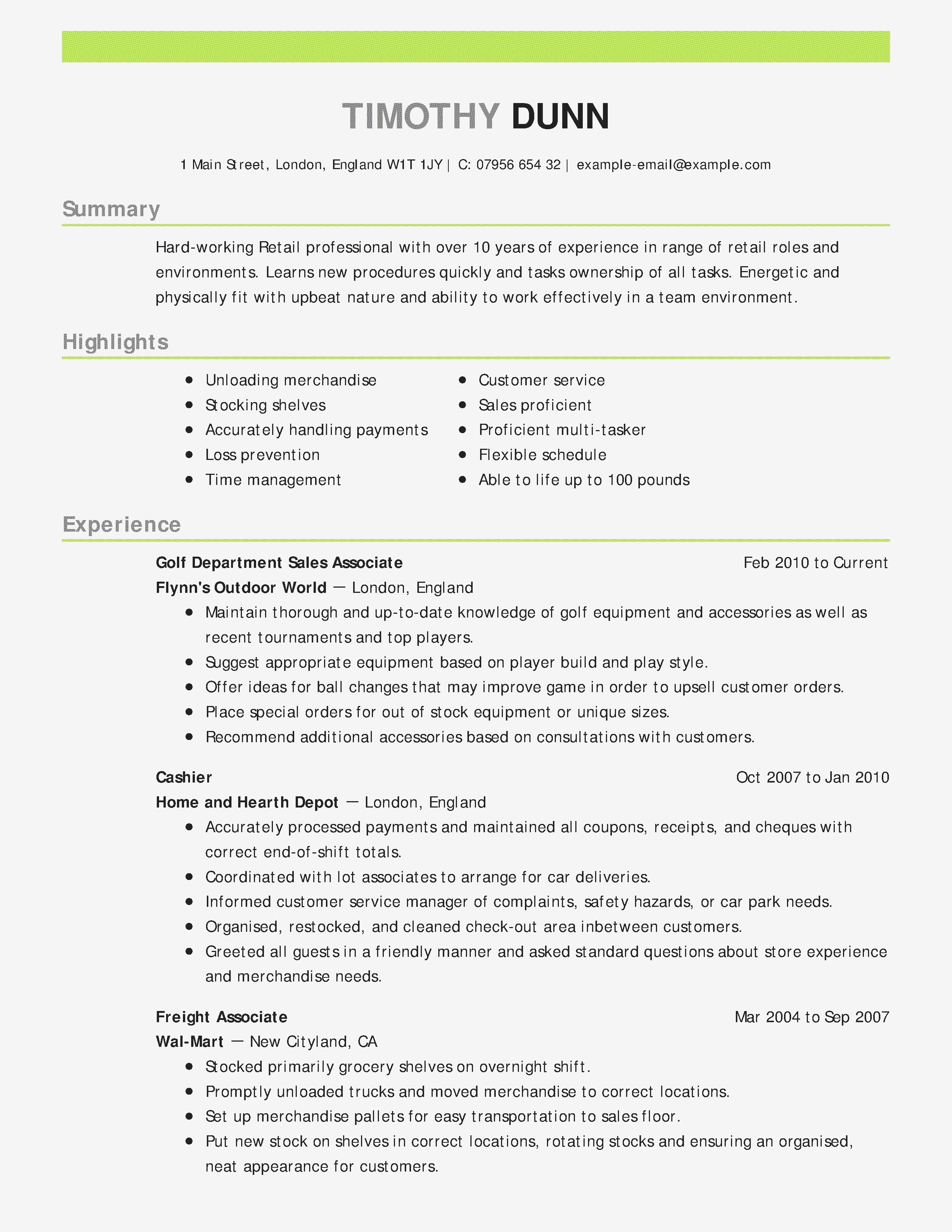 Sales Experience Resume - Sample Cover Letters for Sales