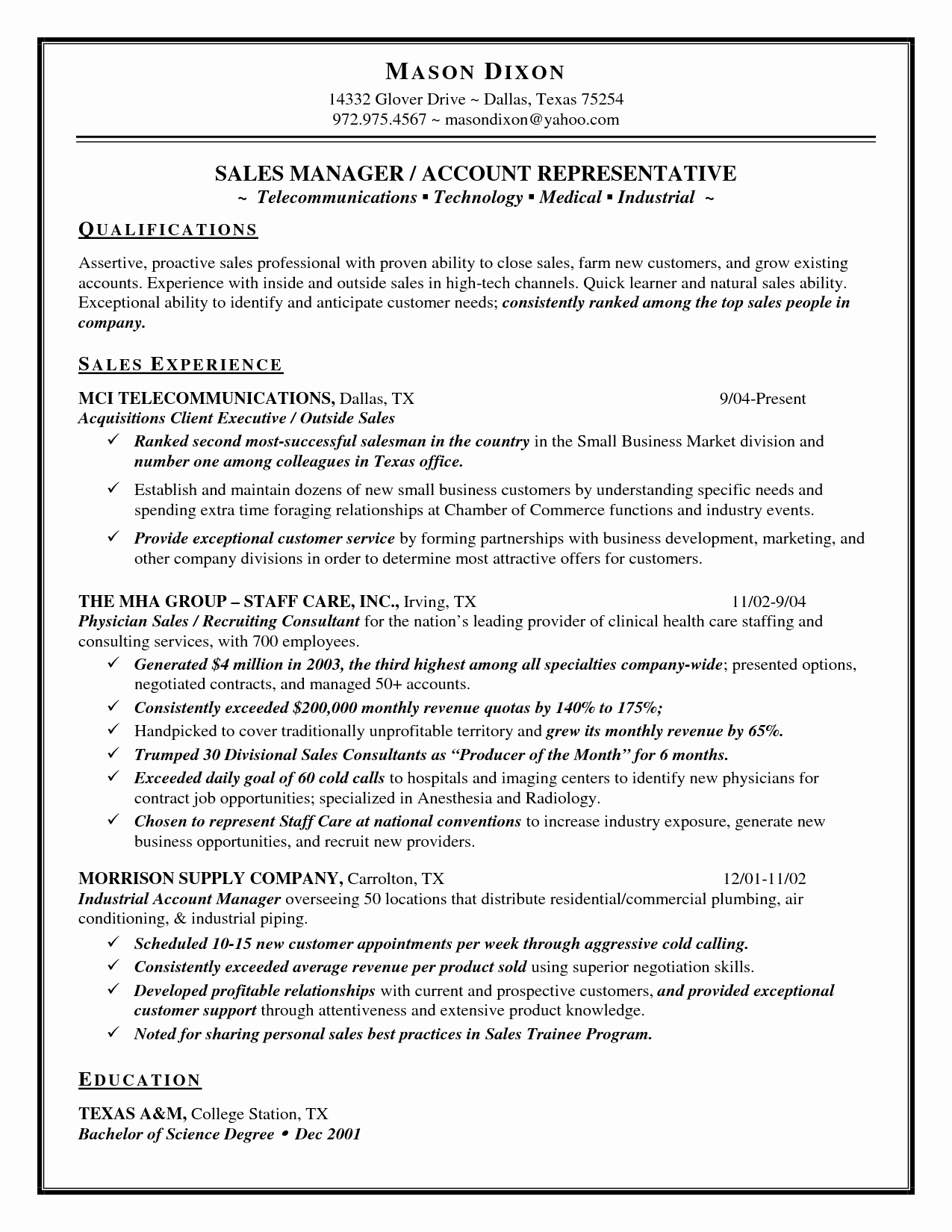 Sales Manager Resume - Retail Sales Manager Resumes Lovely Grocery Store Manager Resume