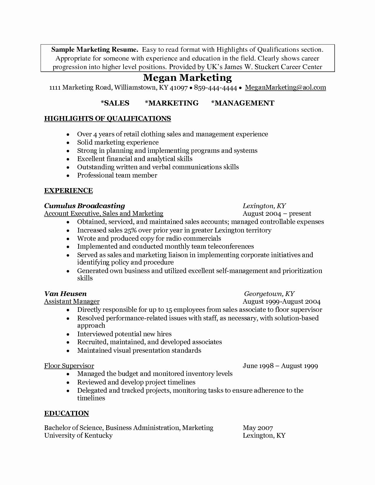 Sales Resume Summary - Example Resume Summary Fresh Inspirational Grapher Resume Sample