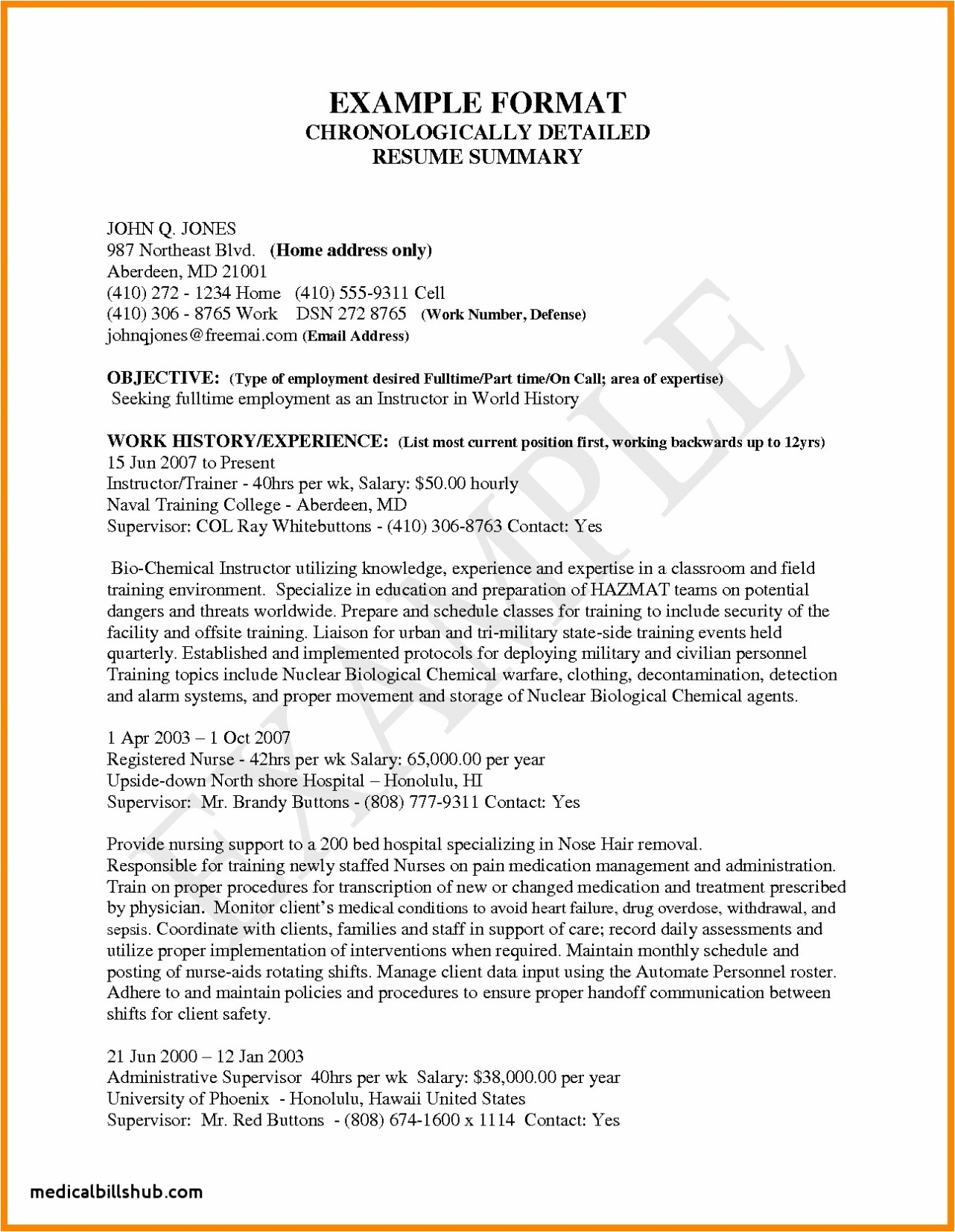sample np resume Collection-Example 18-c