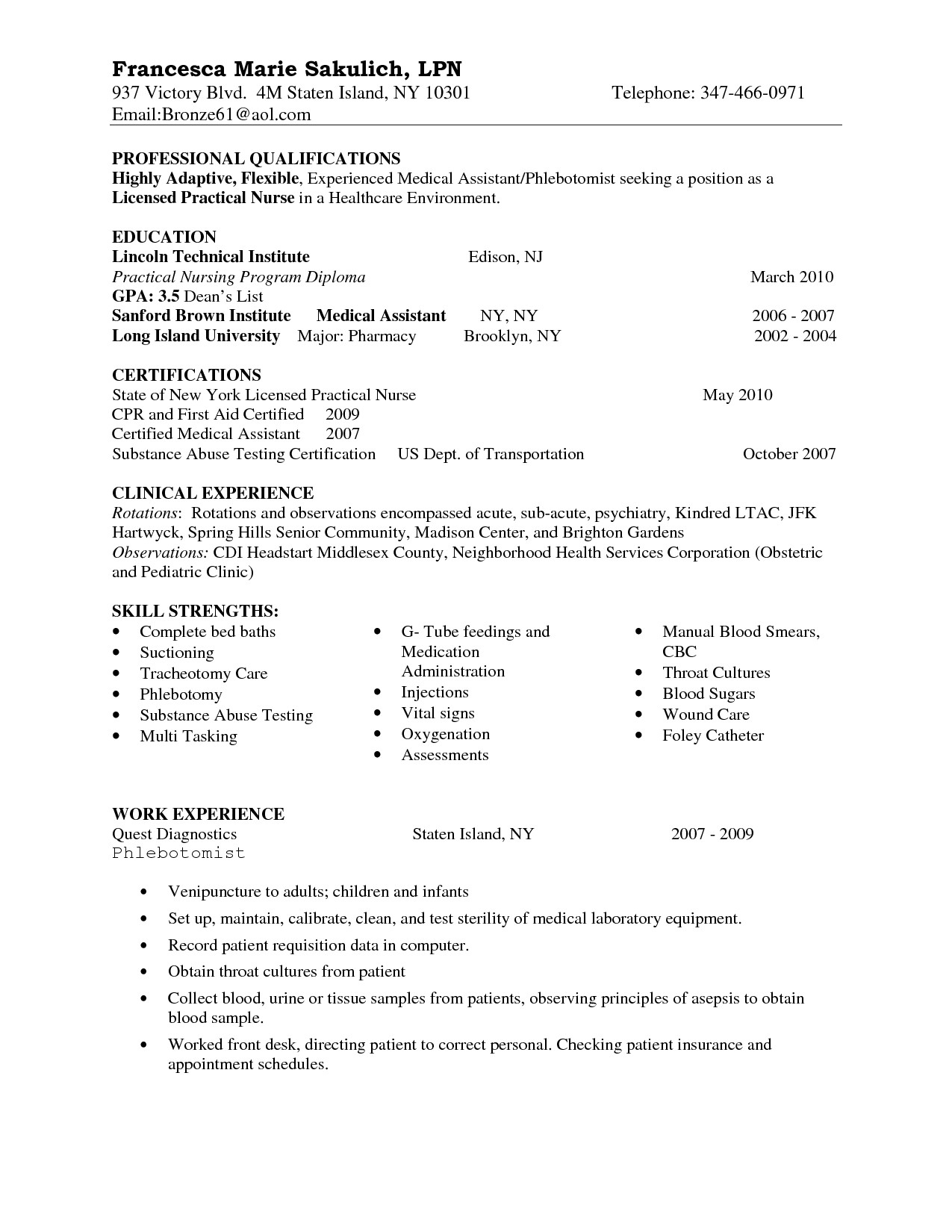 Sample Nursing Student Resume Clinical Experience - 24 New Entry Level Nursing Resume
