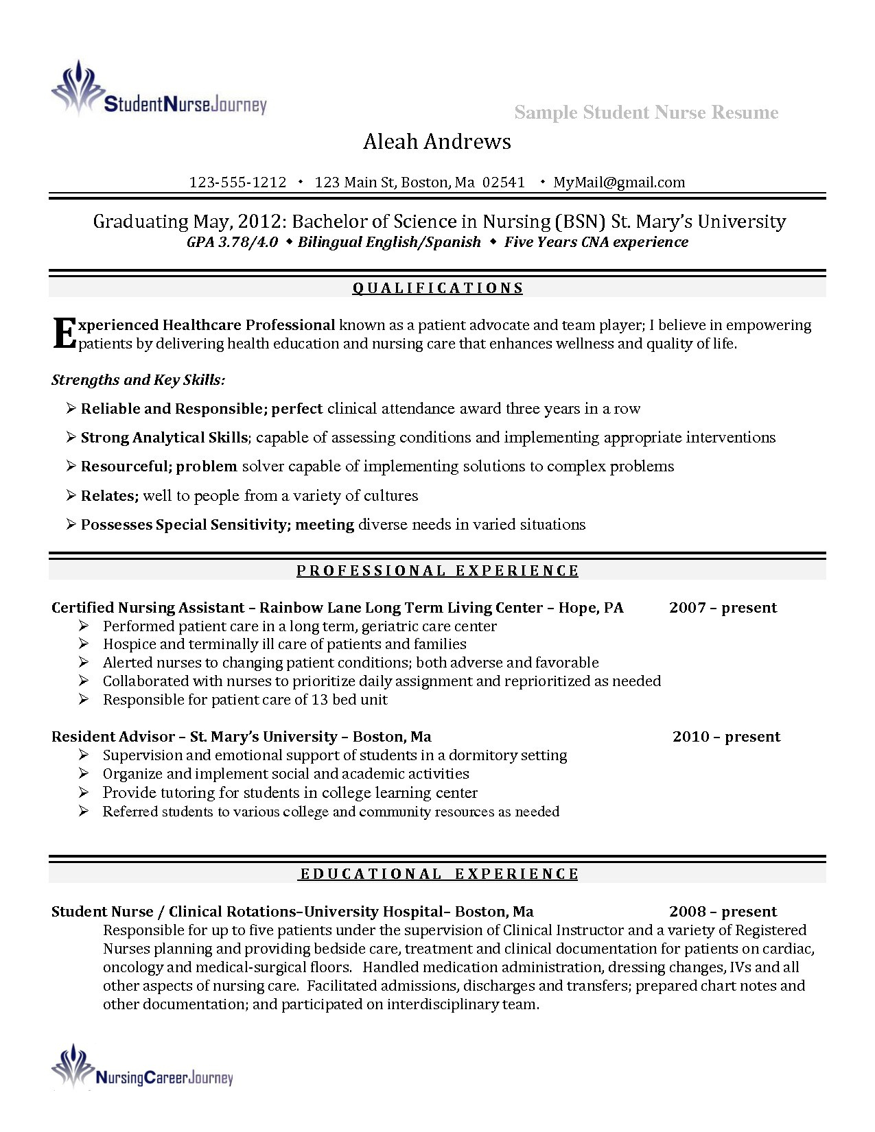 sample nursing student resume clinical experience Collection-Nursing Student Resume Clinical Experience 9-a