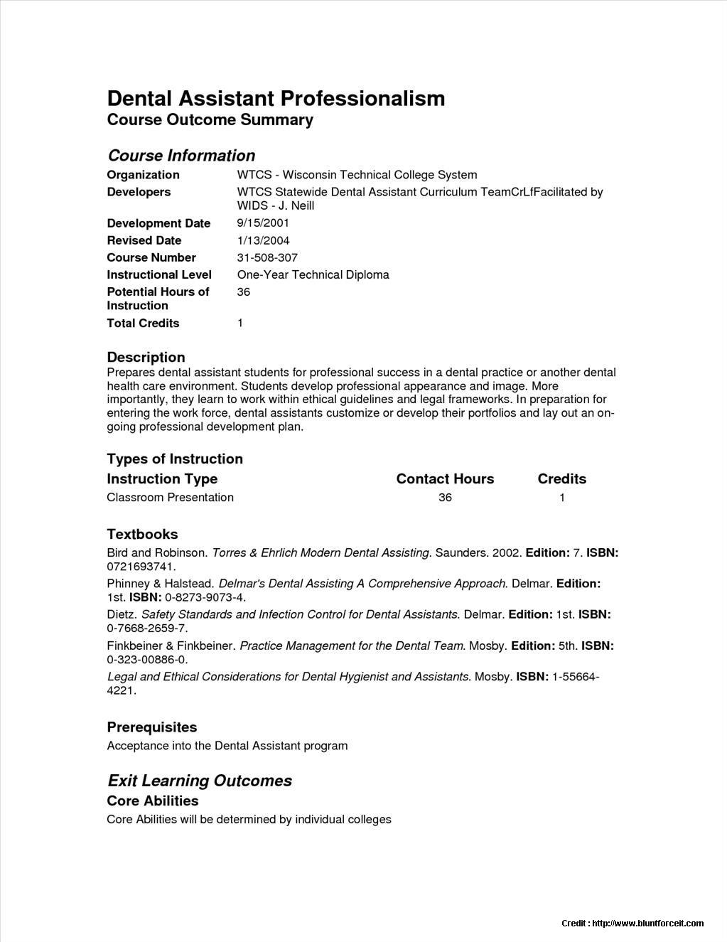 Sample Resume for Dental assistant with No Experience - Sample Resume for Dental assistant with No Experience