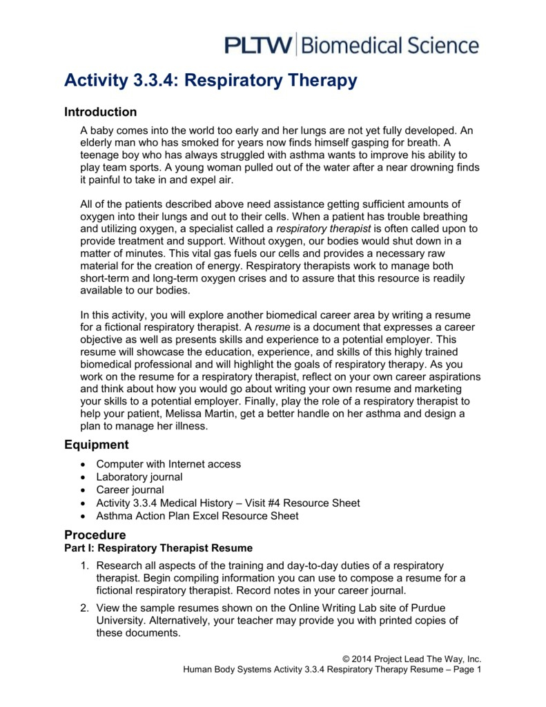 Sample Resumes for Respiratory therapist - 25 Lovely Respiratory therapist Resume Sample