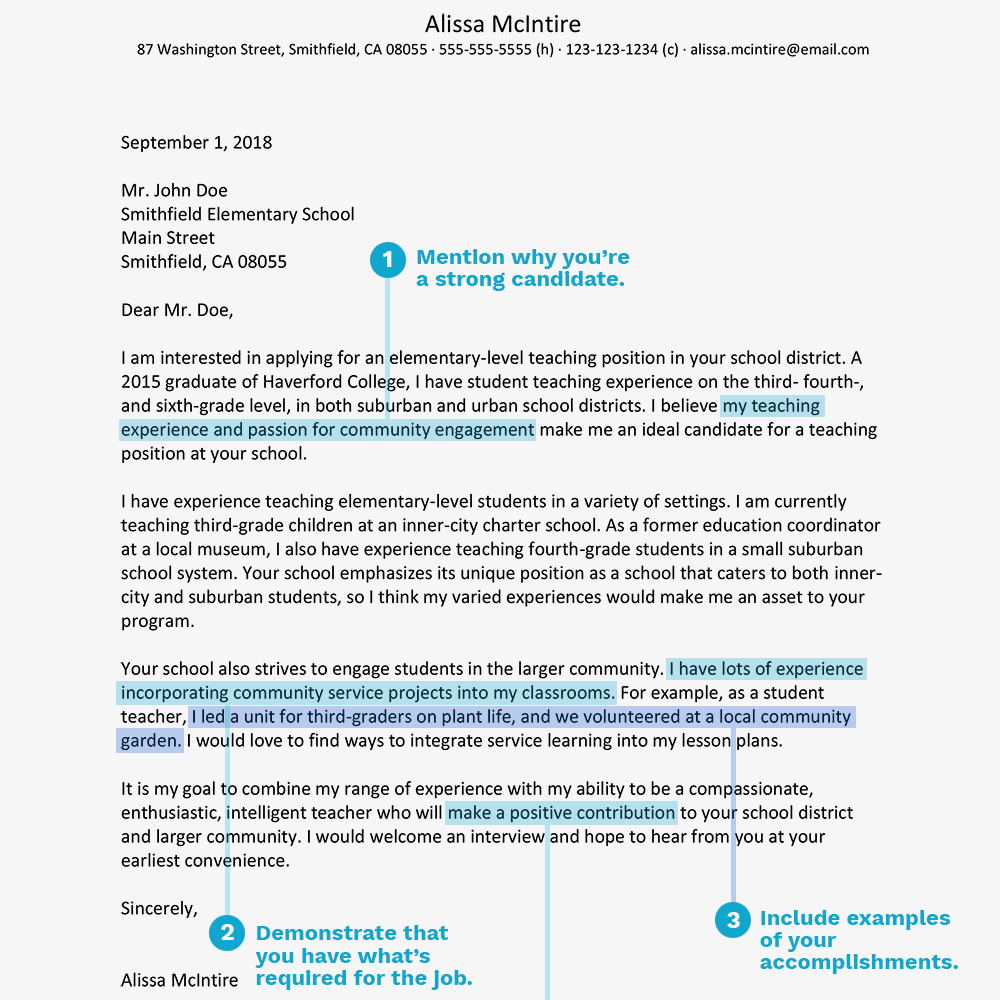 Sample Special Ed Teacher Resume - Teacher Cover Letter Example and Writing Tips