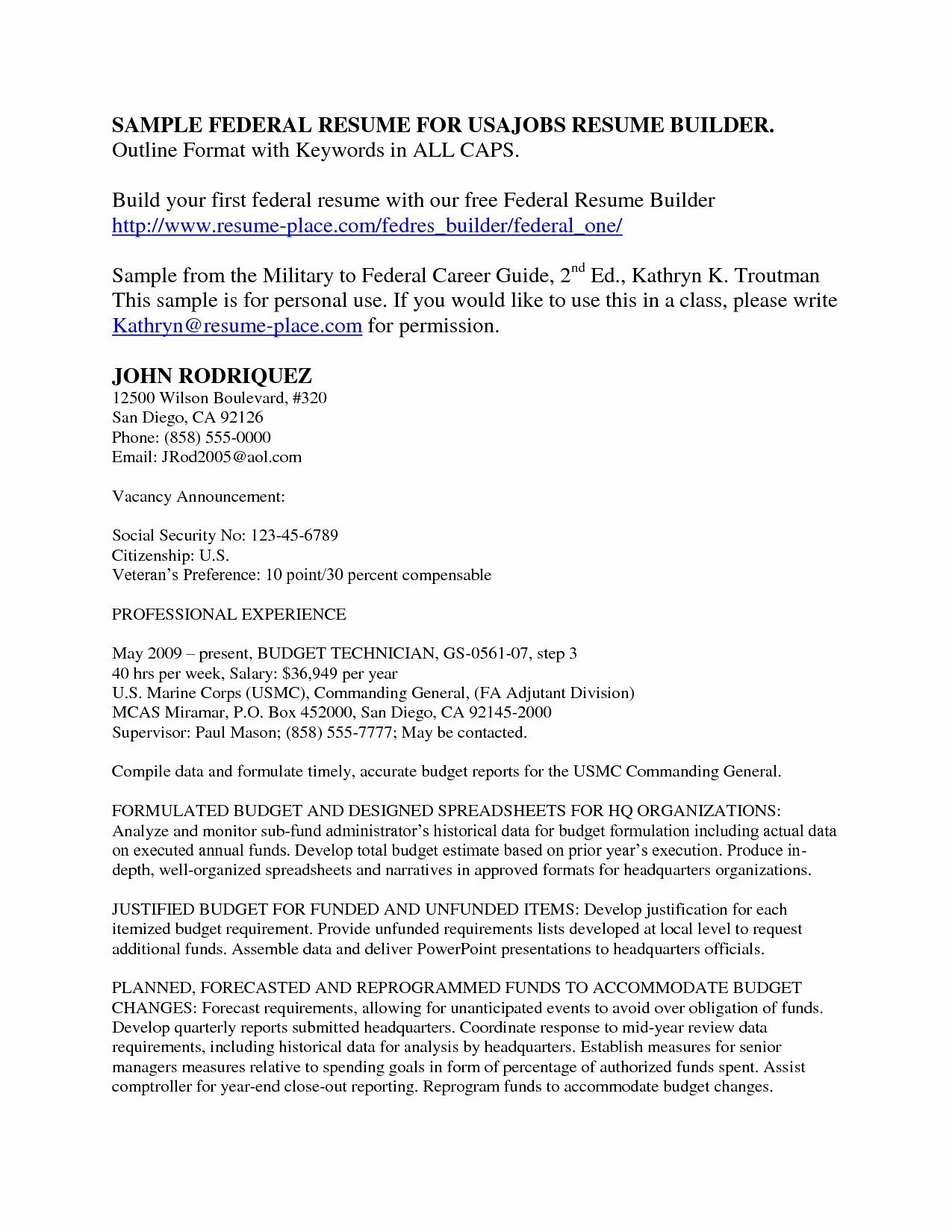 San Diego Resume - Resume format Job that Can Improve their Vocation Resume Insight