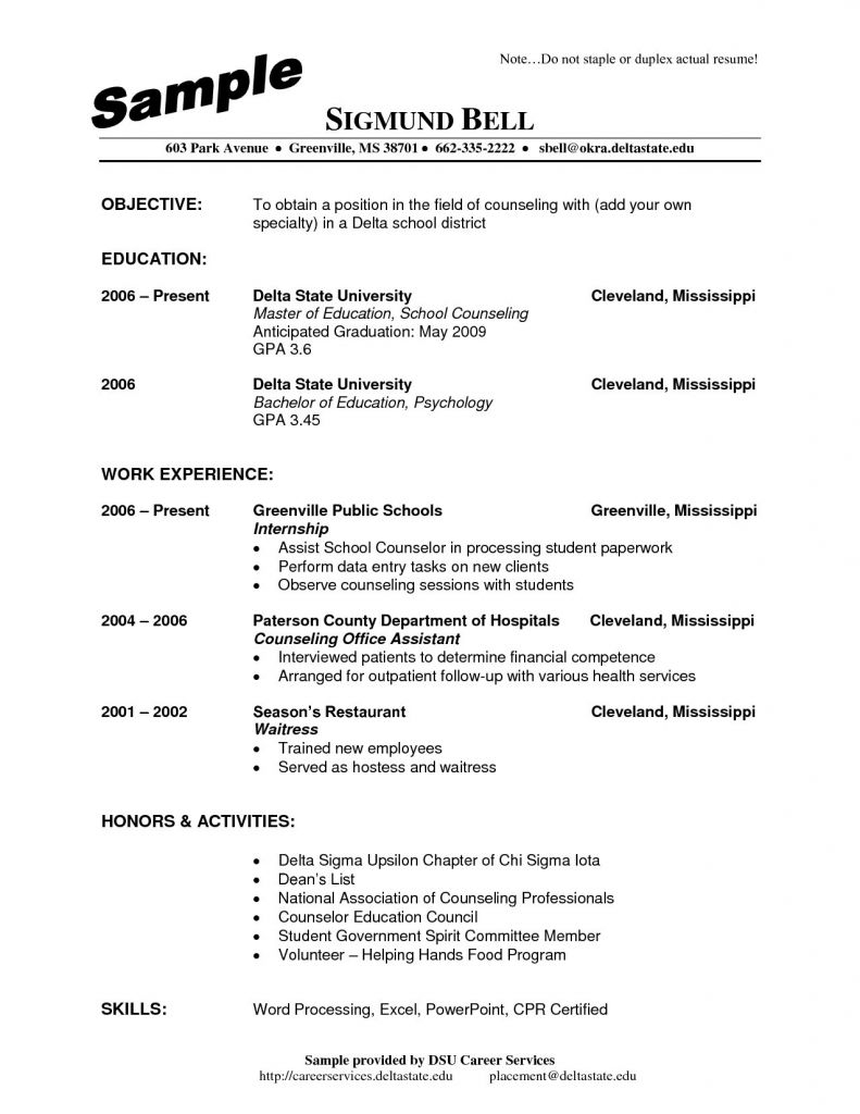 School Counselor Resume Template - Popular Resume for Substance Abuse Counselor Vcuregistry