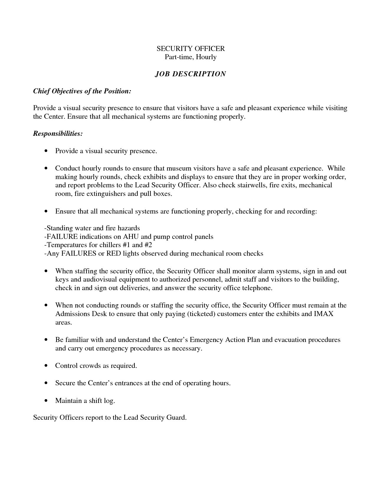Security Guard Resume - 22 Elegant Security Ficer Resume