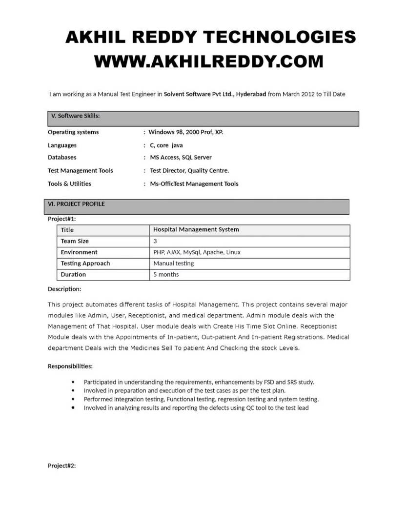 Selenium Tester Resume - Sample Resume for software Tester Fresher Luxury Selenium Tester