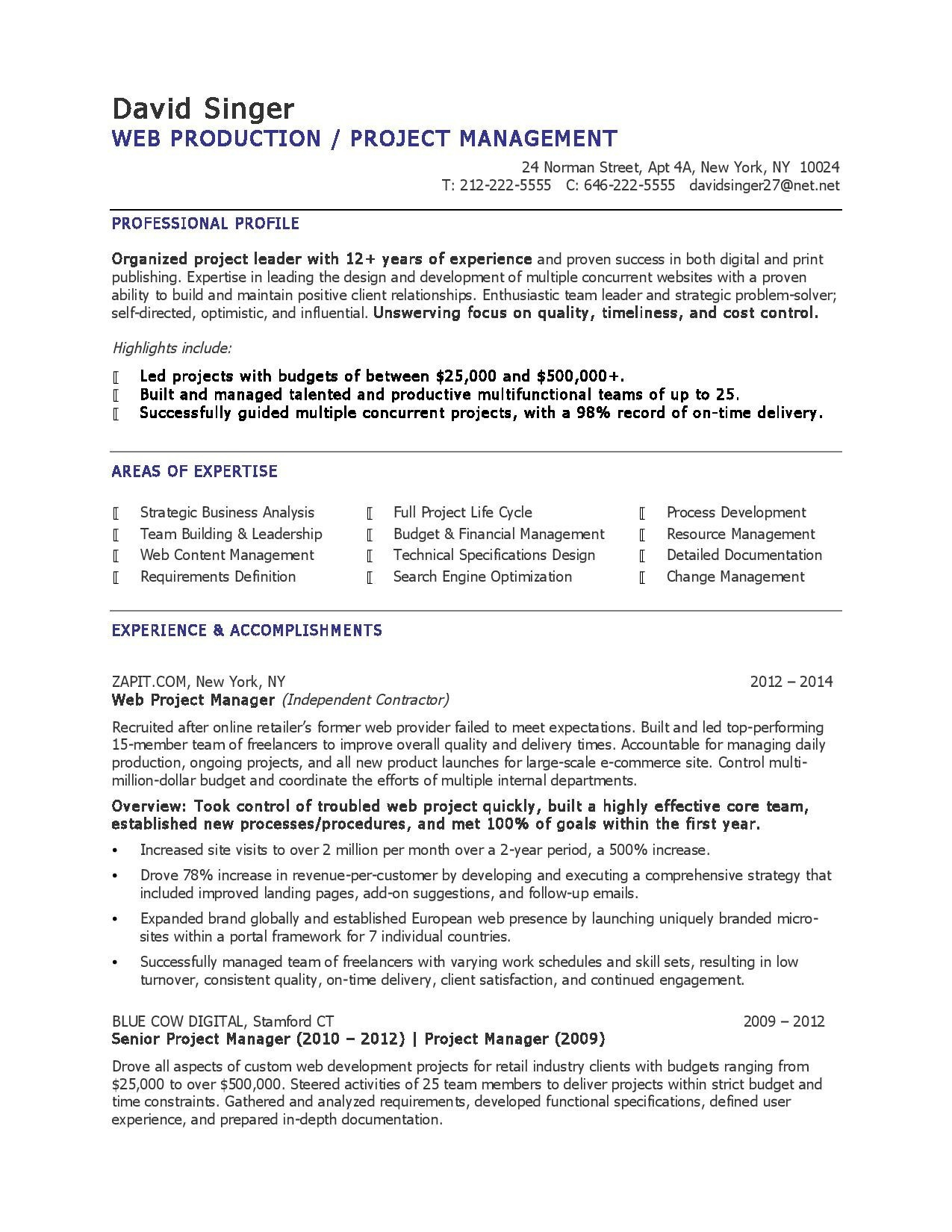 Self Storage Manager Resume - Sample Production Manager Resume Best Project Manager Resume
