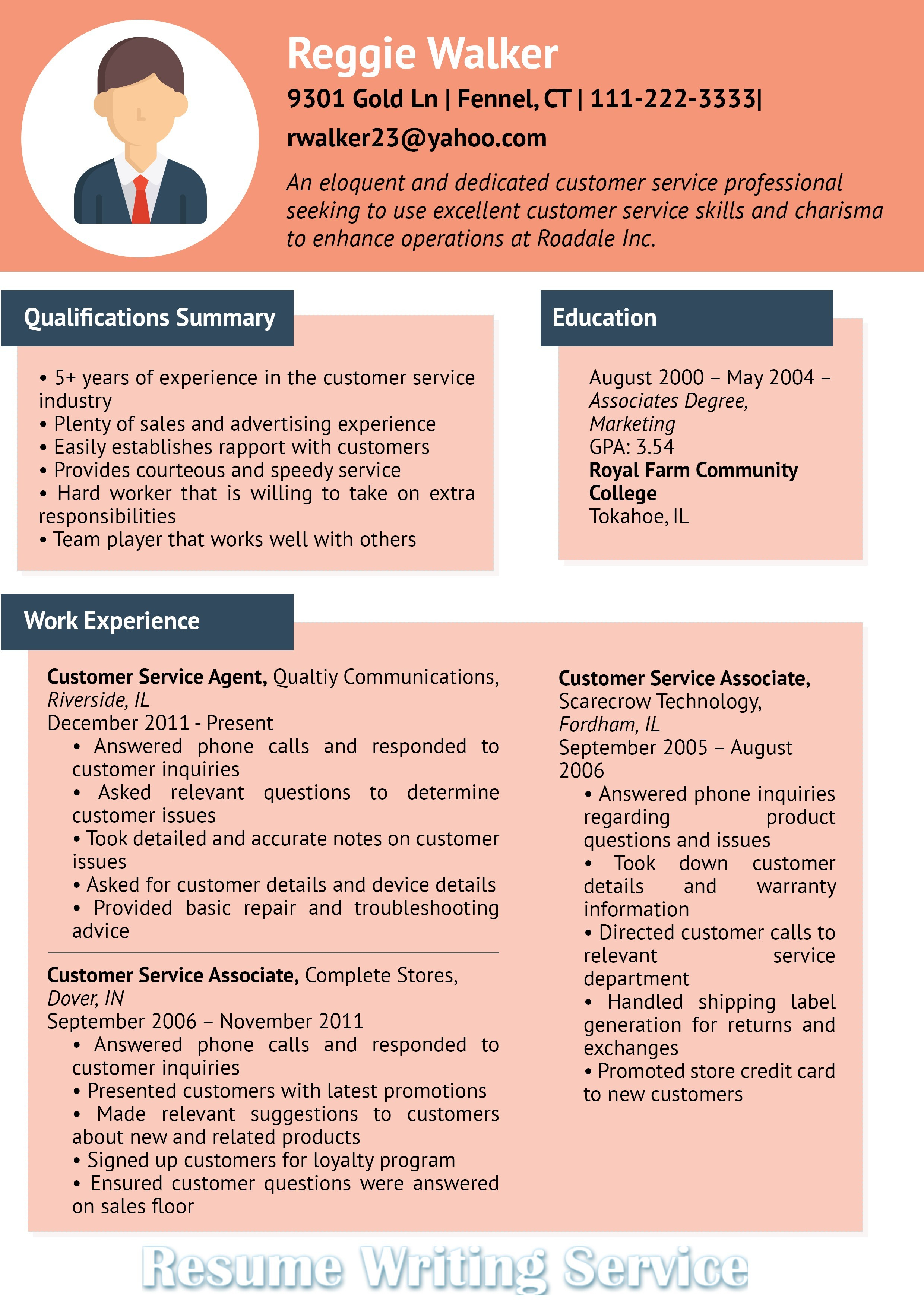 Service Industry Resume Examples - Profile for Resume Best Profile Section Resume Examples Examples