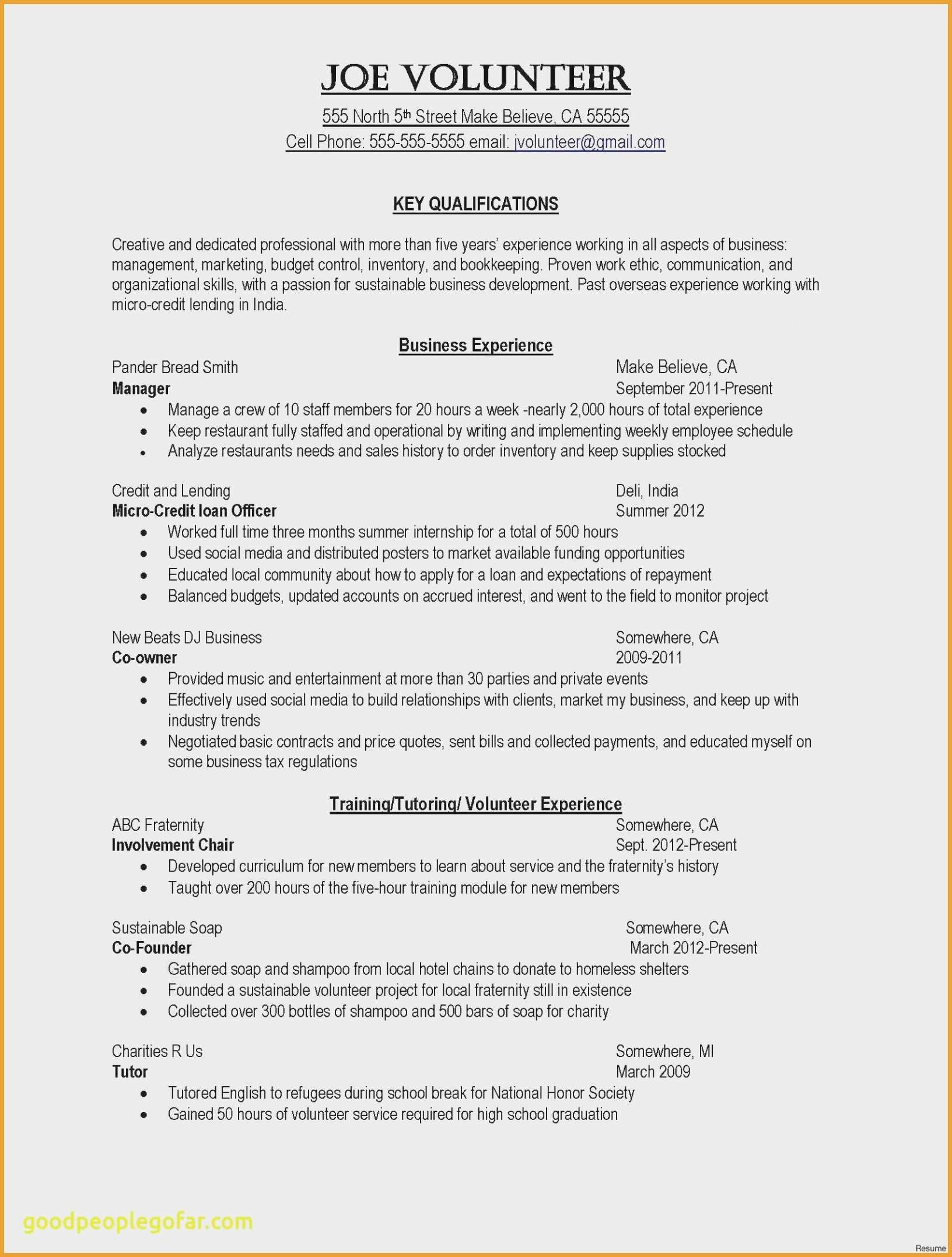 Service Industry Resume Sample - Resume Samples for Hospitality Industry Unique A Good Resume Example