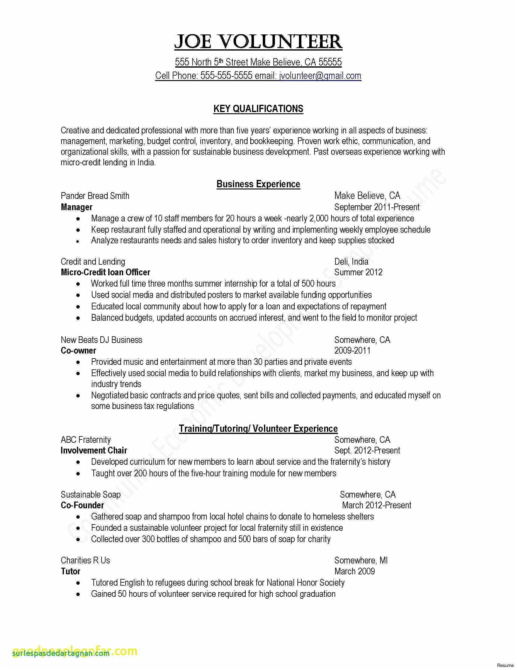 Shidduch Resume Template - Sample College Resume Template