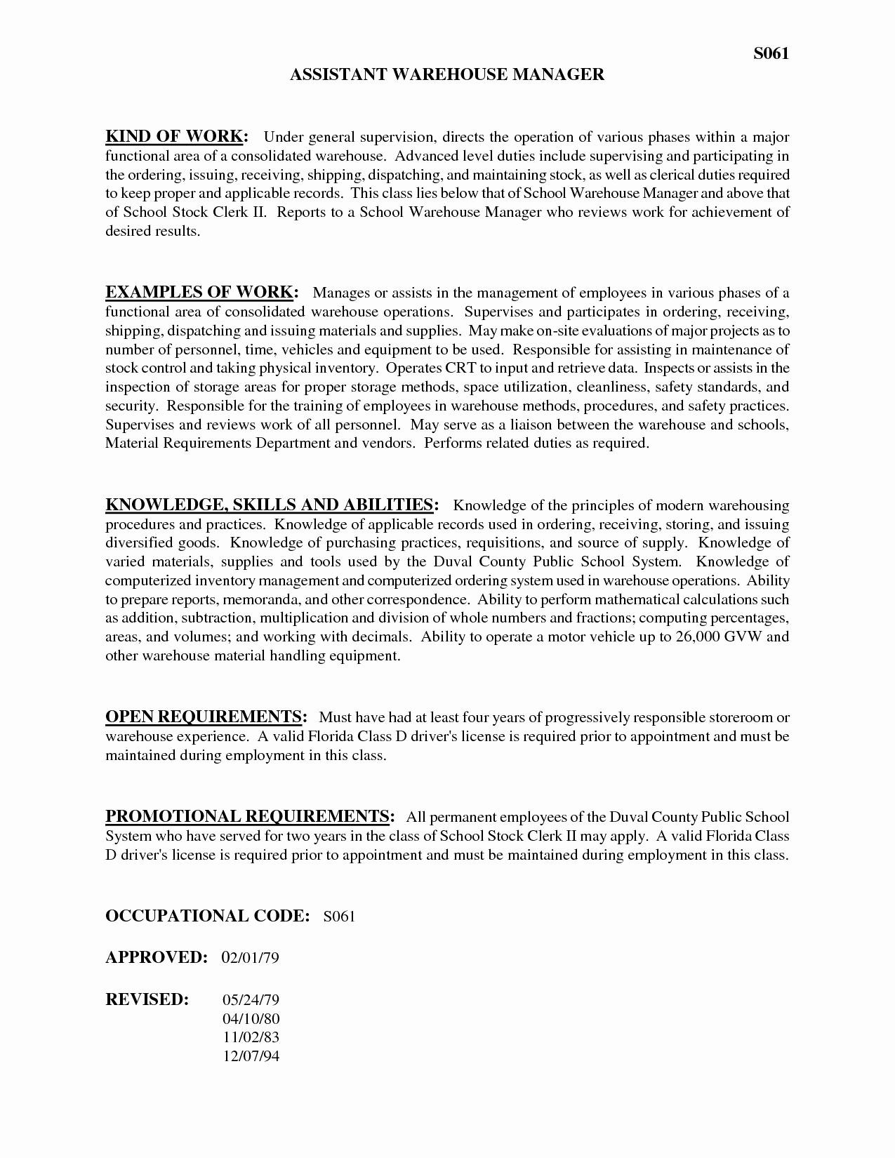 Shipping and Receiving Clerk Job Description for Resume - 17 Shipping and Receiving Clerk Resume