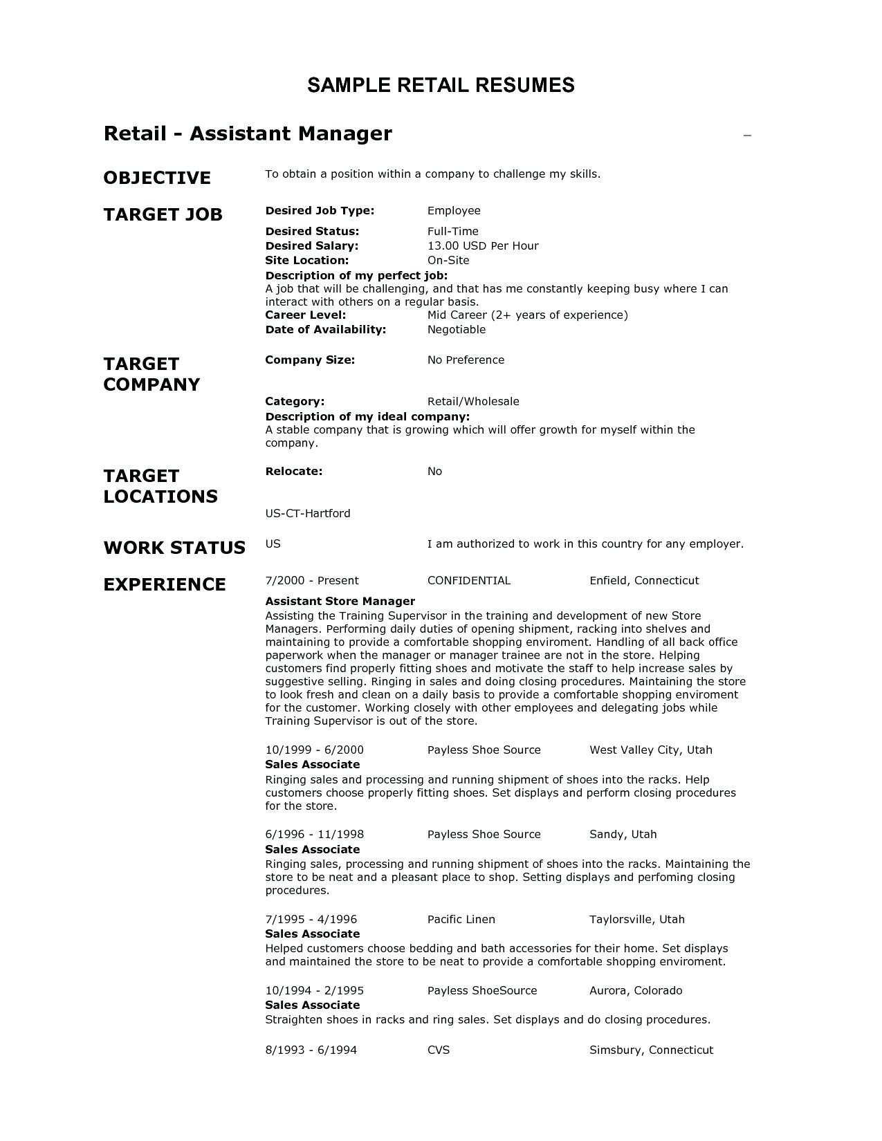 shoe store manager resume Collection-Store Manager Job Description for Resume 20 Store Manager Job Description for Resume 4-t