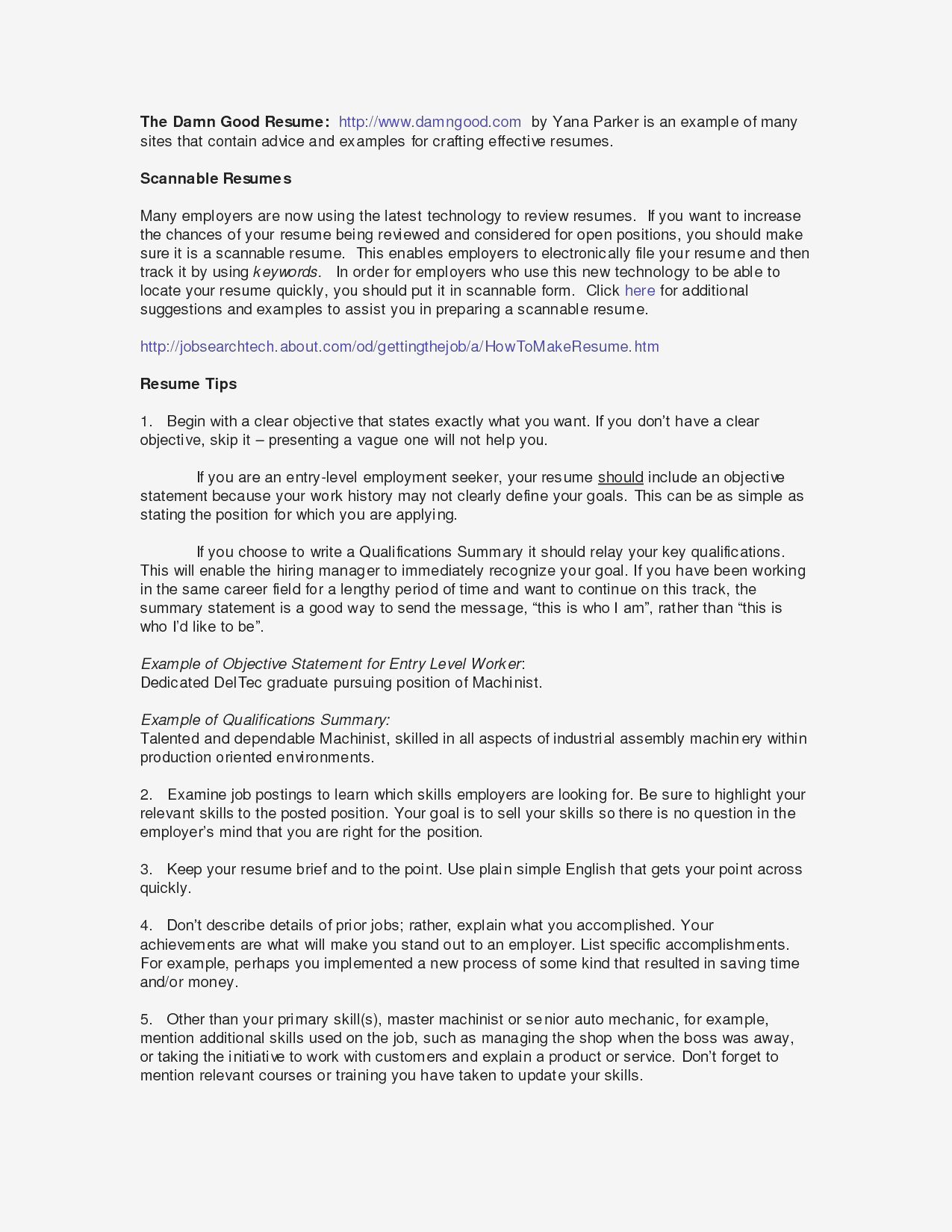 Skills Summary for Resume Examples - Sample Resume Summary Statements