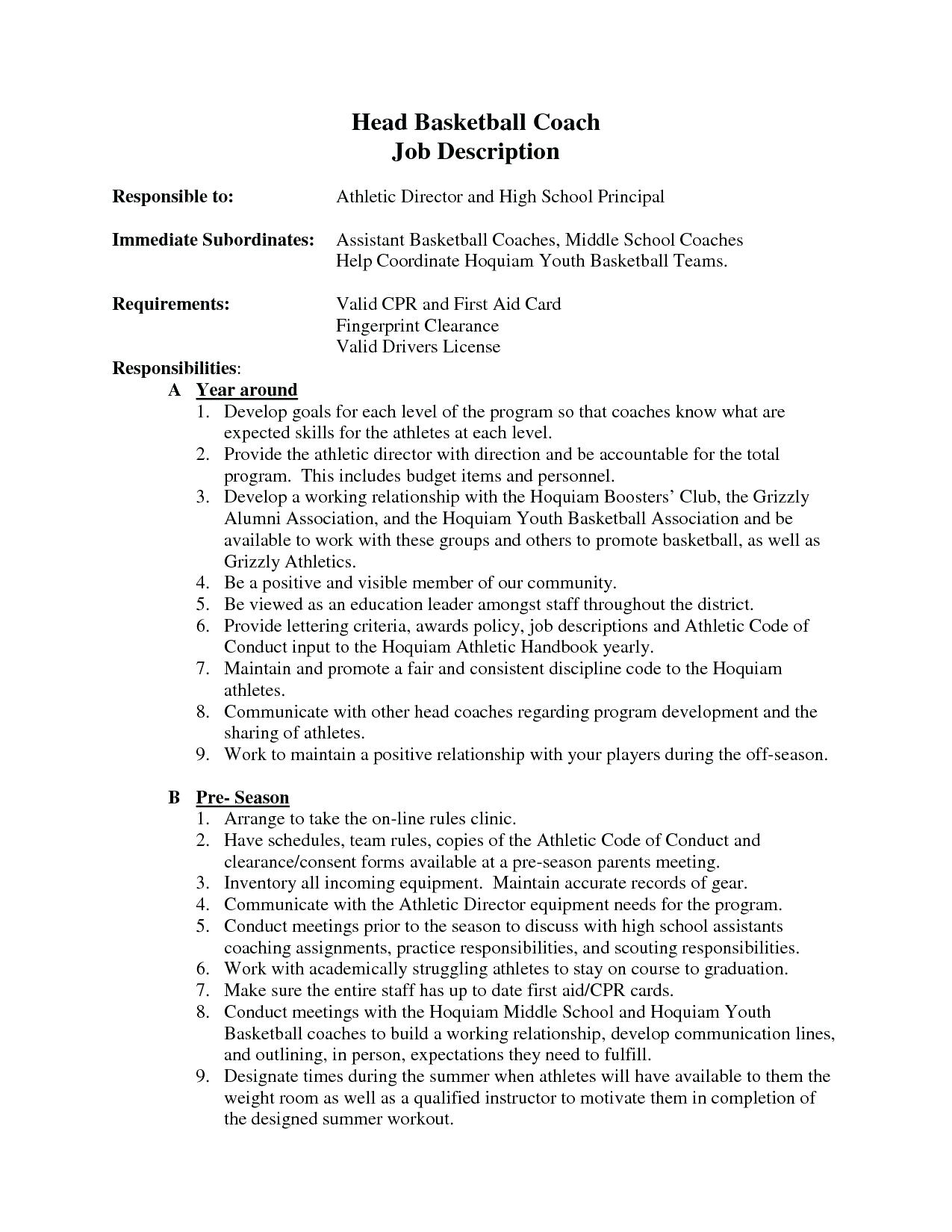 Soccer Coaching Resumes - Coaching Resume Basketball Coach Templates soccer format Job Cover