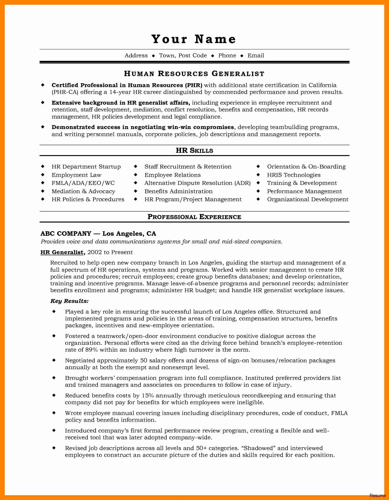Soccer Coaching Resumes - Copy and Paste Resume Template Lovely Coaching Resume Template