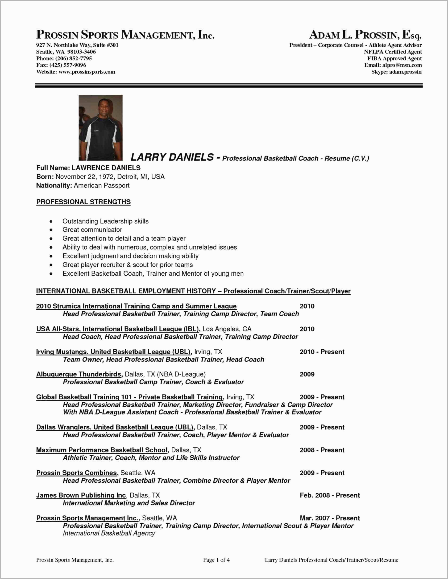 Soccer Player Resume Template - 20 Basketball Referee Resume