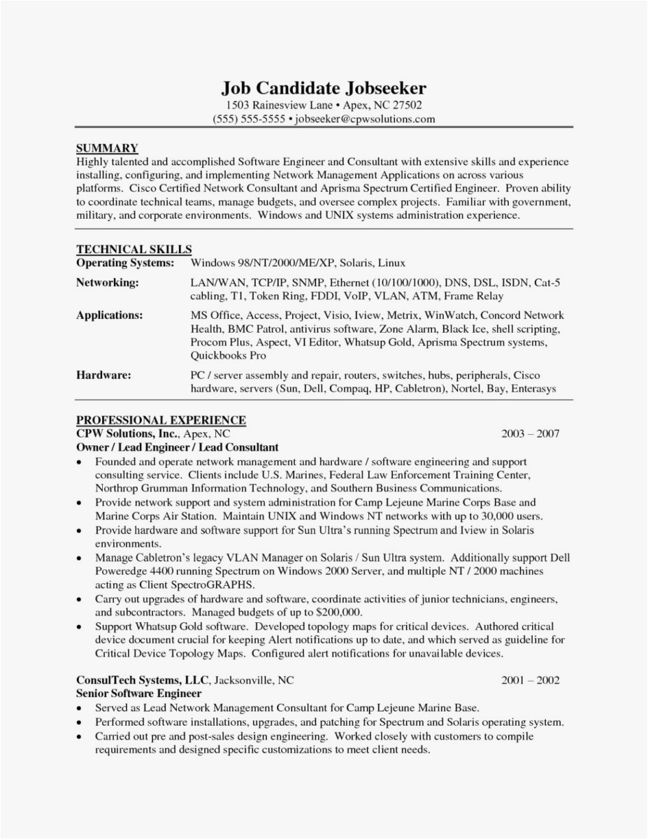 Software Engineer Resume Summary - software Engineer Resume Summary Luxury Professional Engineer Resume