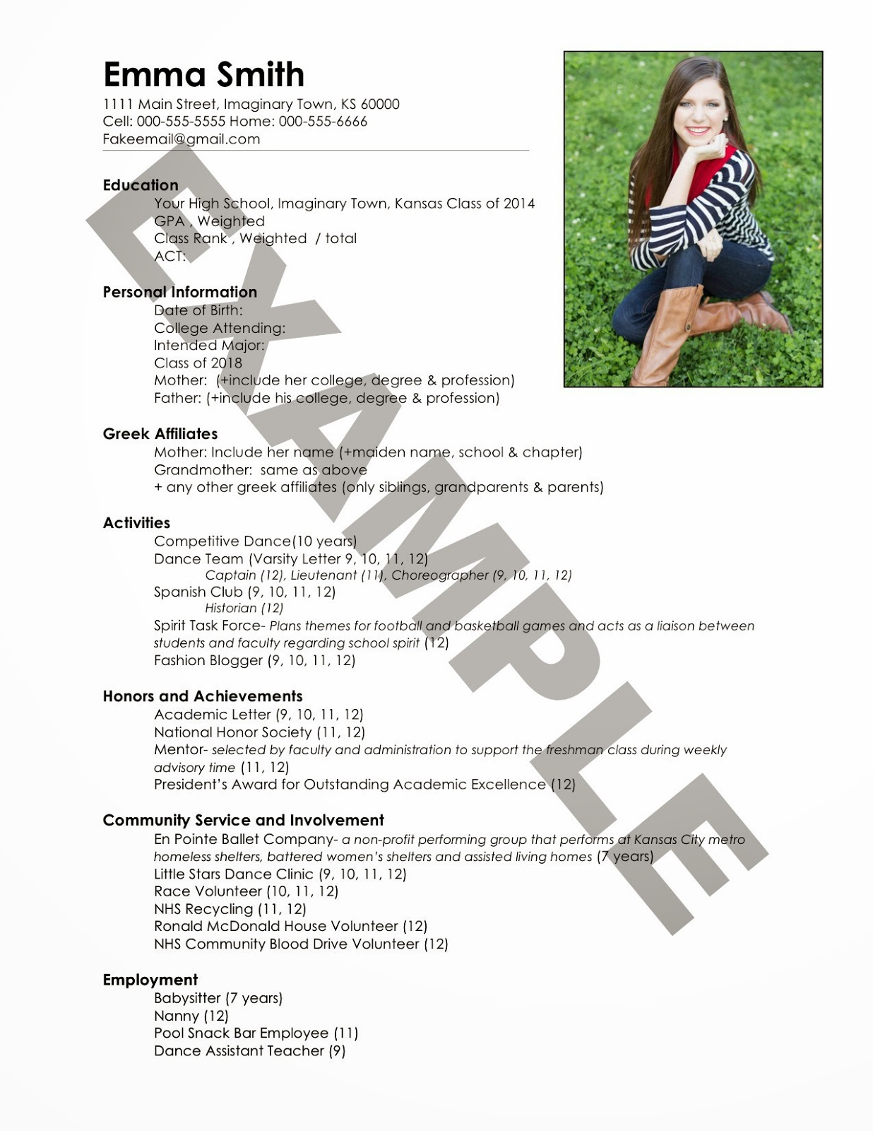 sorority rush resume template example-the ultimate guide to sorority recruitment how to write a resume 19-c