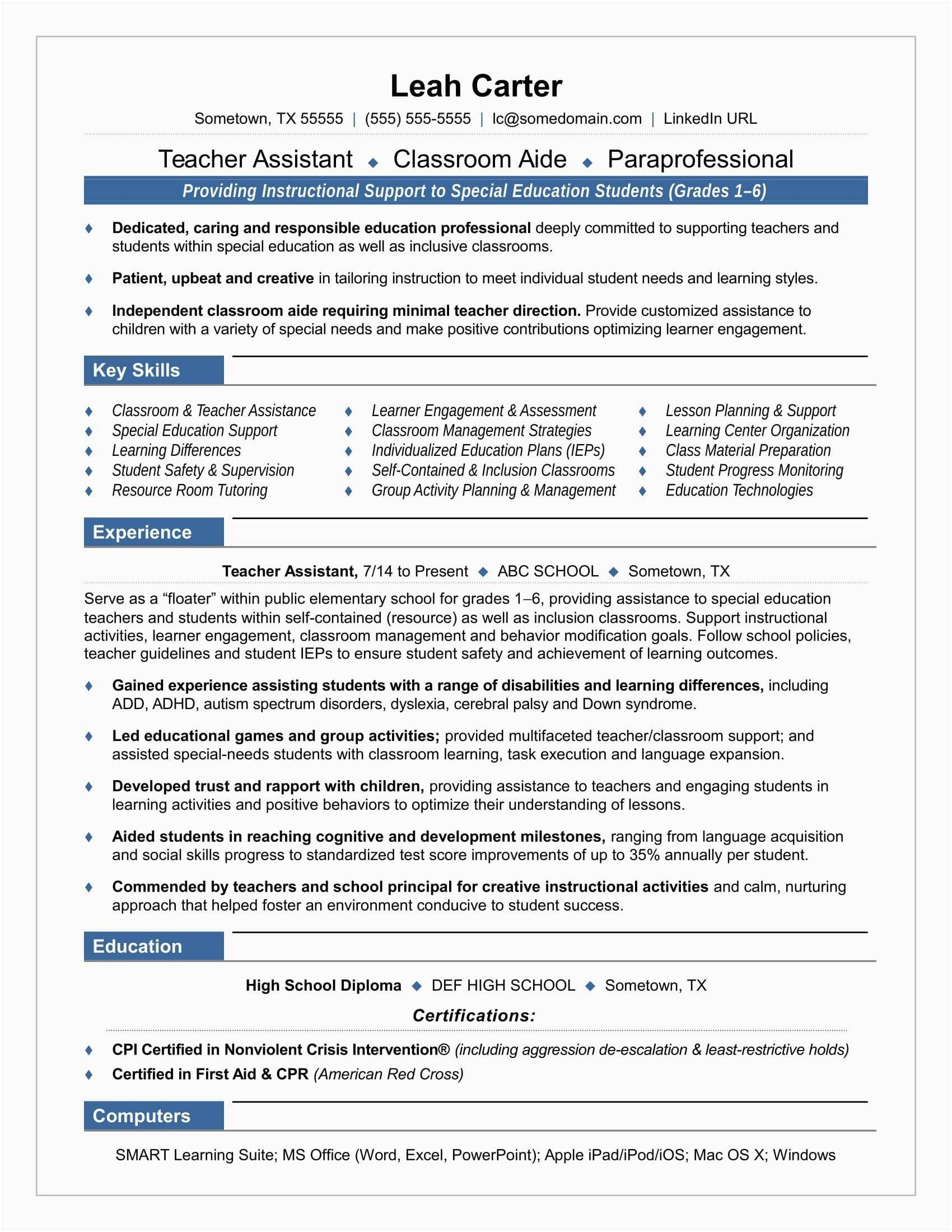 Special Education Resume - 21 New Cover Letter for Resumes Simple