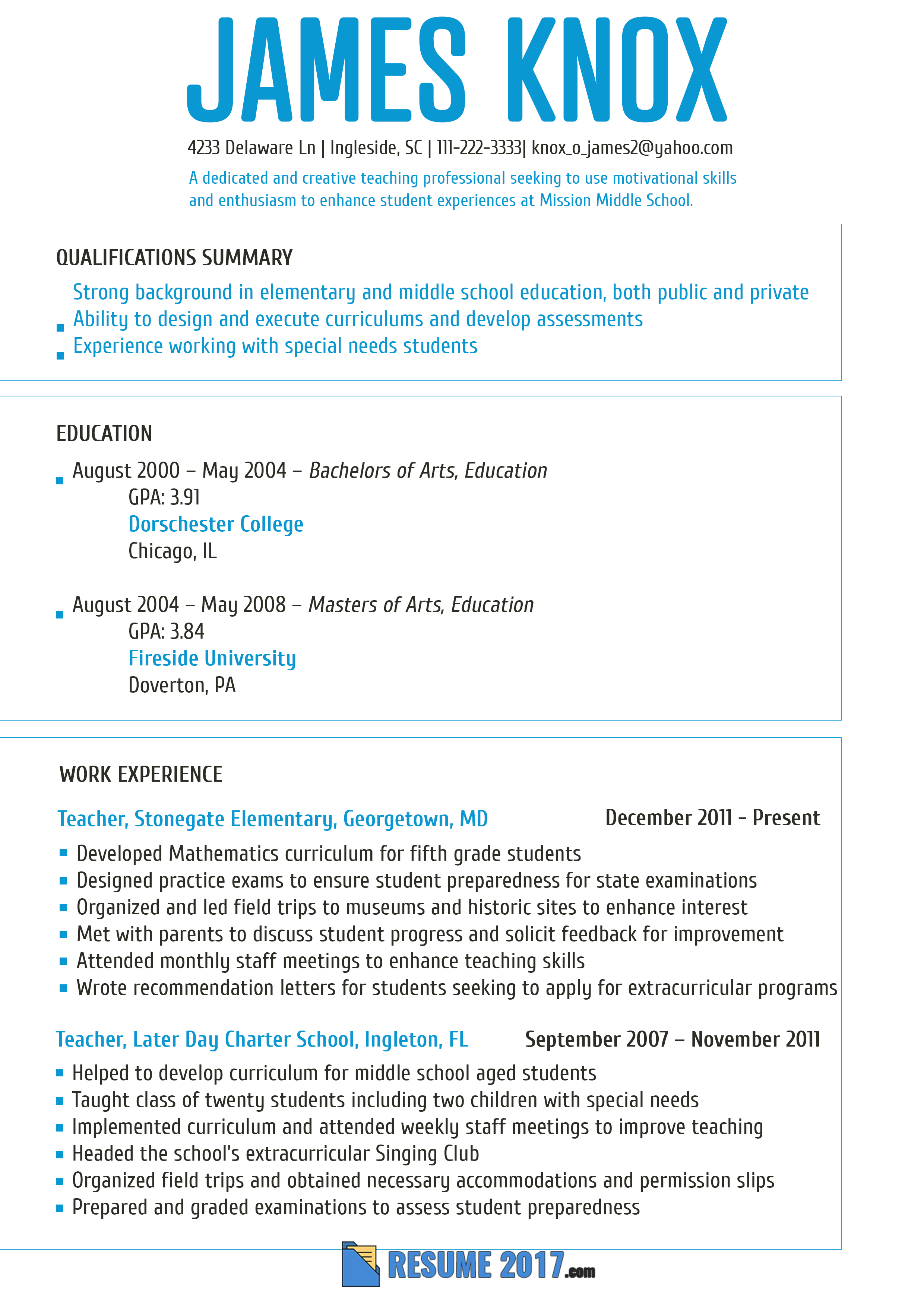 Special Education Teacher Resume Template - Pin by Resume 2018 Samples Usa On Teacher Resume Template 2018