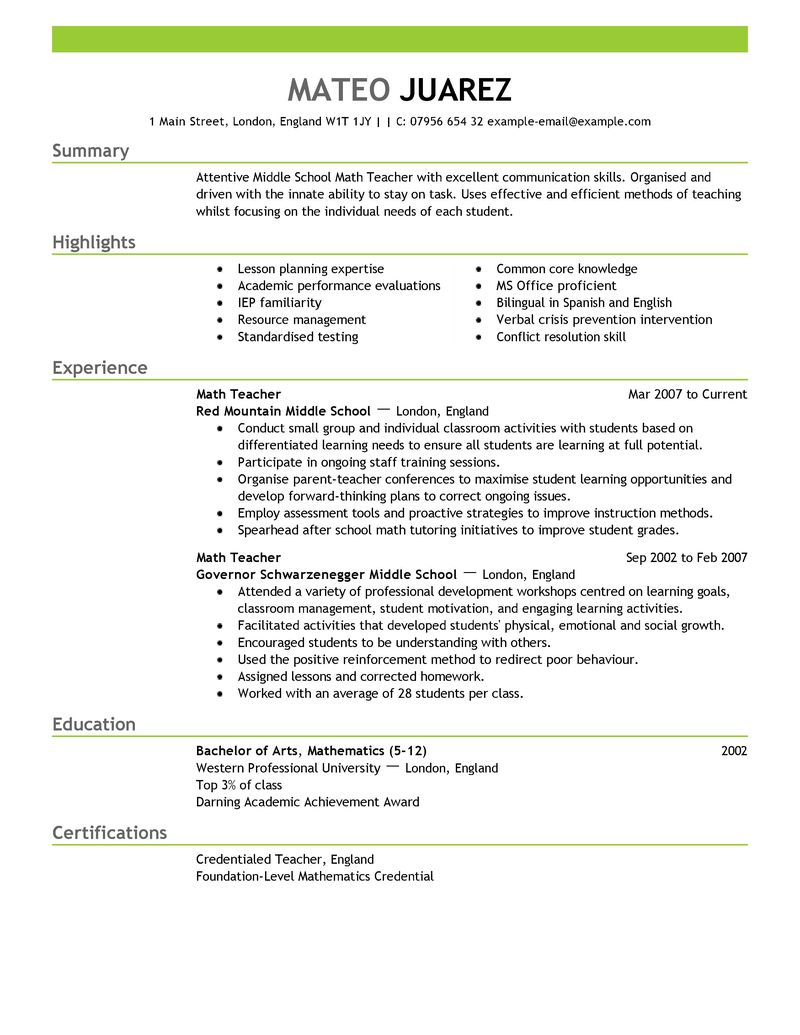 Special Education Teacher Resume Template - Resume Templates for Educators Vatozb Rural