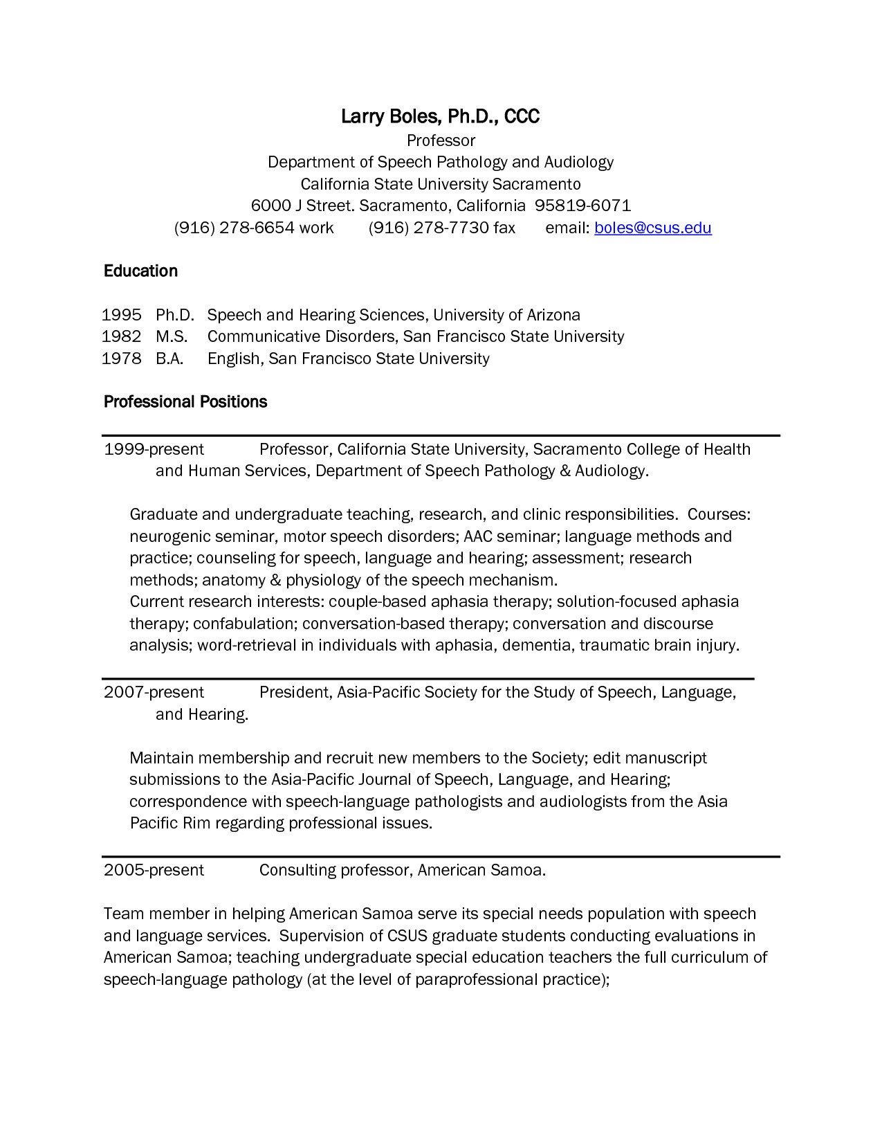 Speech Language Pathologist Resume Template