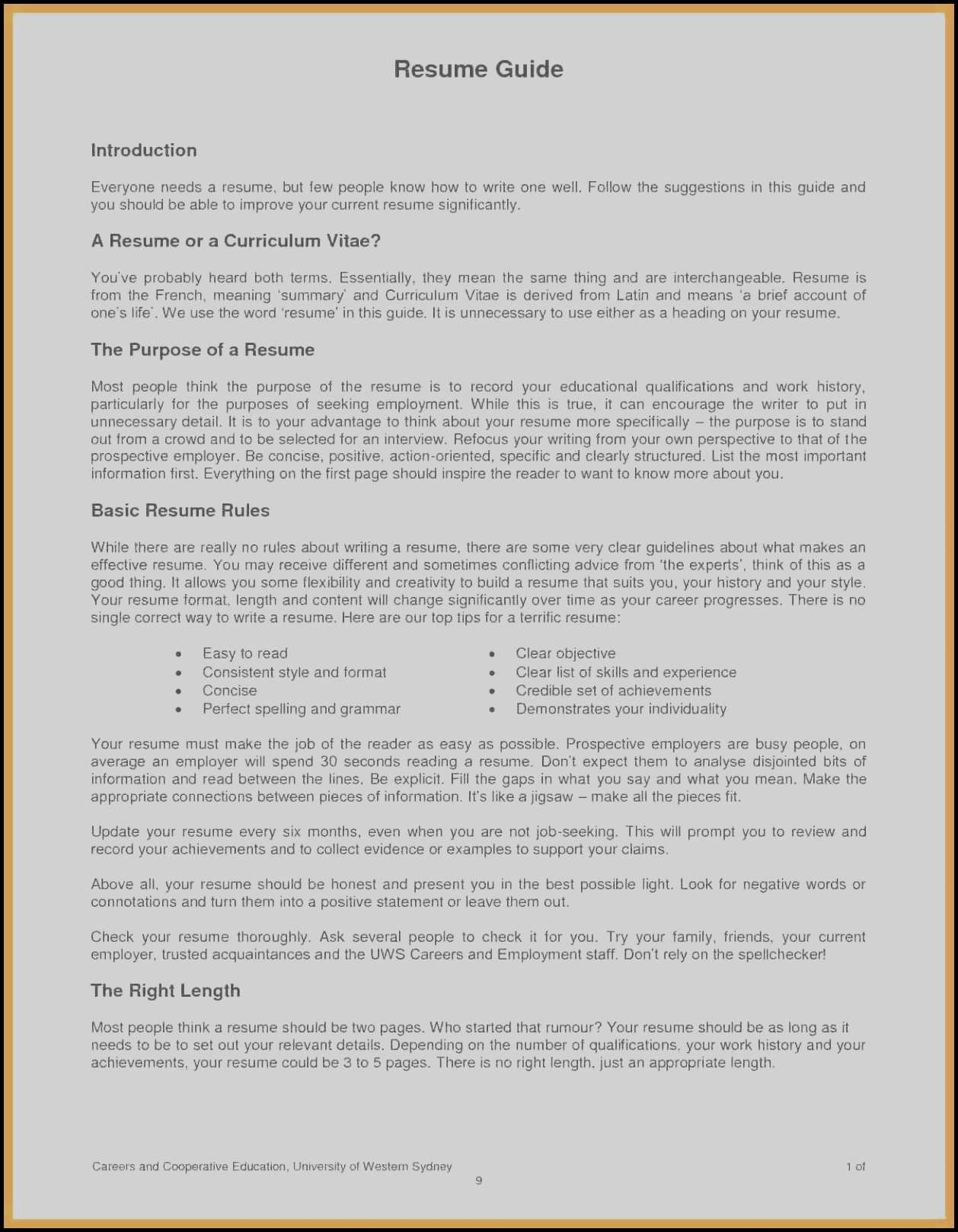 Spelling Of Resume - Spelling Curriculum Vitae – Resume Spelling New Template Great