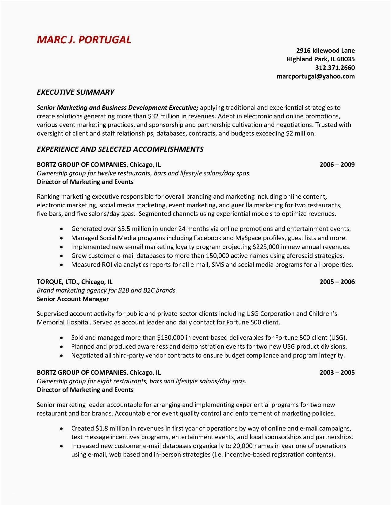 Sponsorship Resume Template - Objectives for Resumes Awesome event Resume Template Reference Good