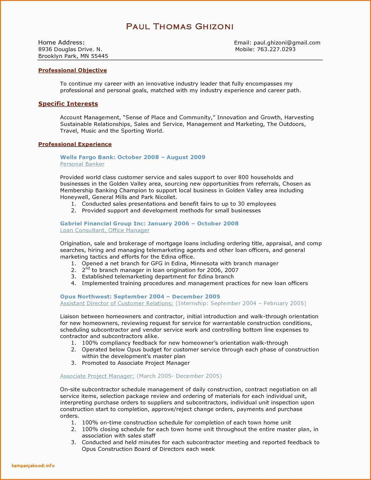 Sports Resume Template - Manager Resume Example 40 Fresh Project Manager Resume Example