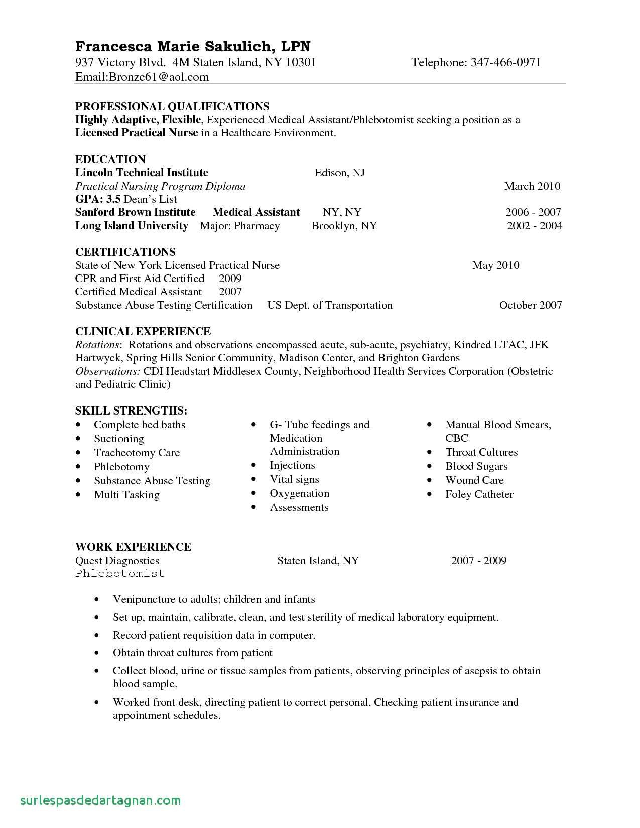 Student Nurse Resume Template Free - Medical Resume Template Free Elegant New Graduate Nurse Resume
