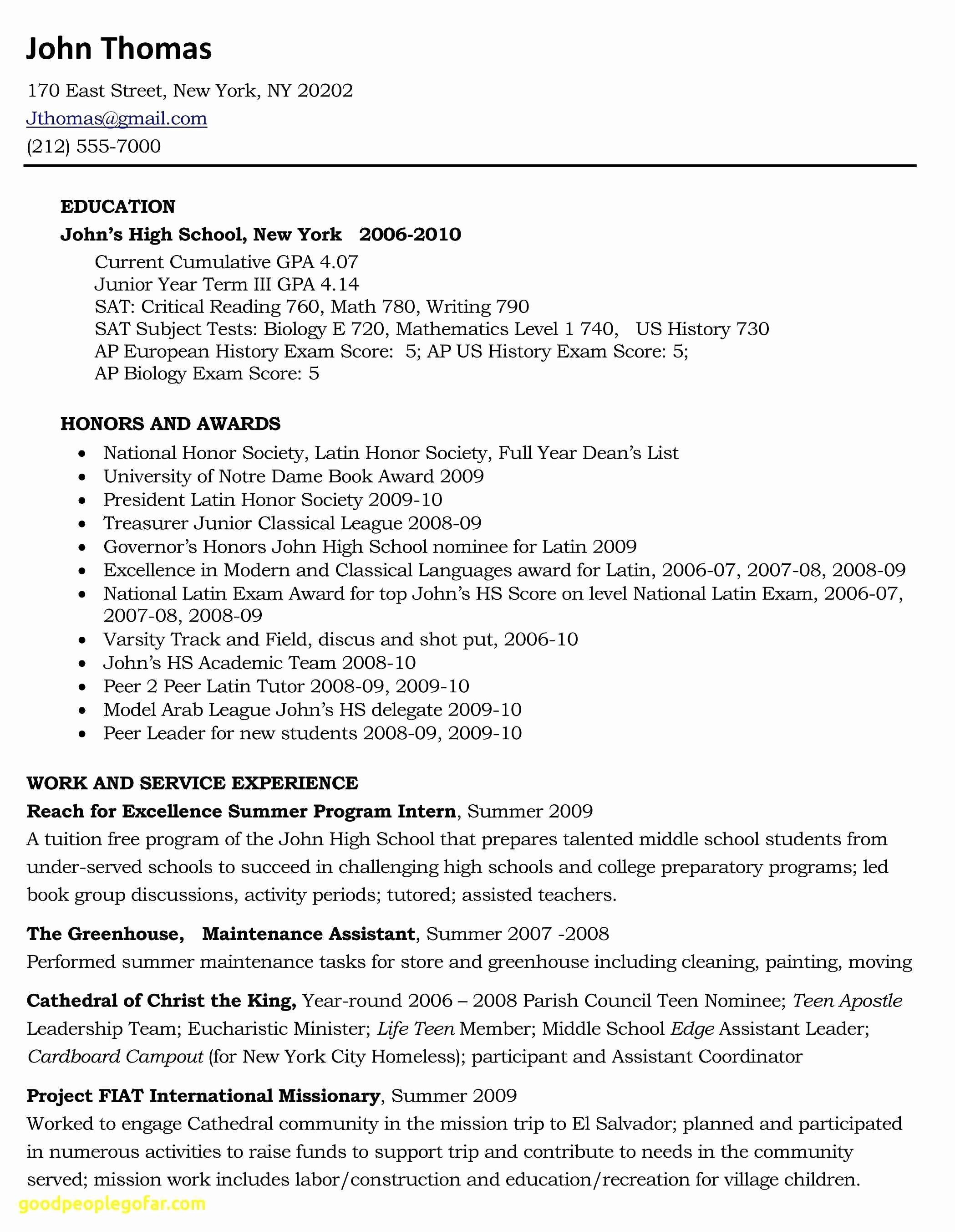 Student Resume Builder - Resume Builder for College Students Inspirational Free Resume Maker