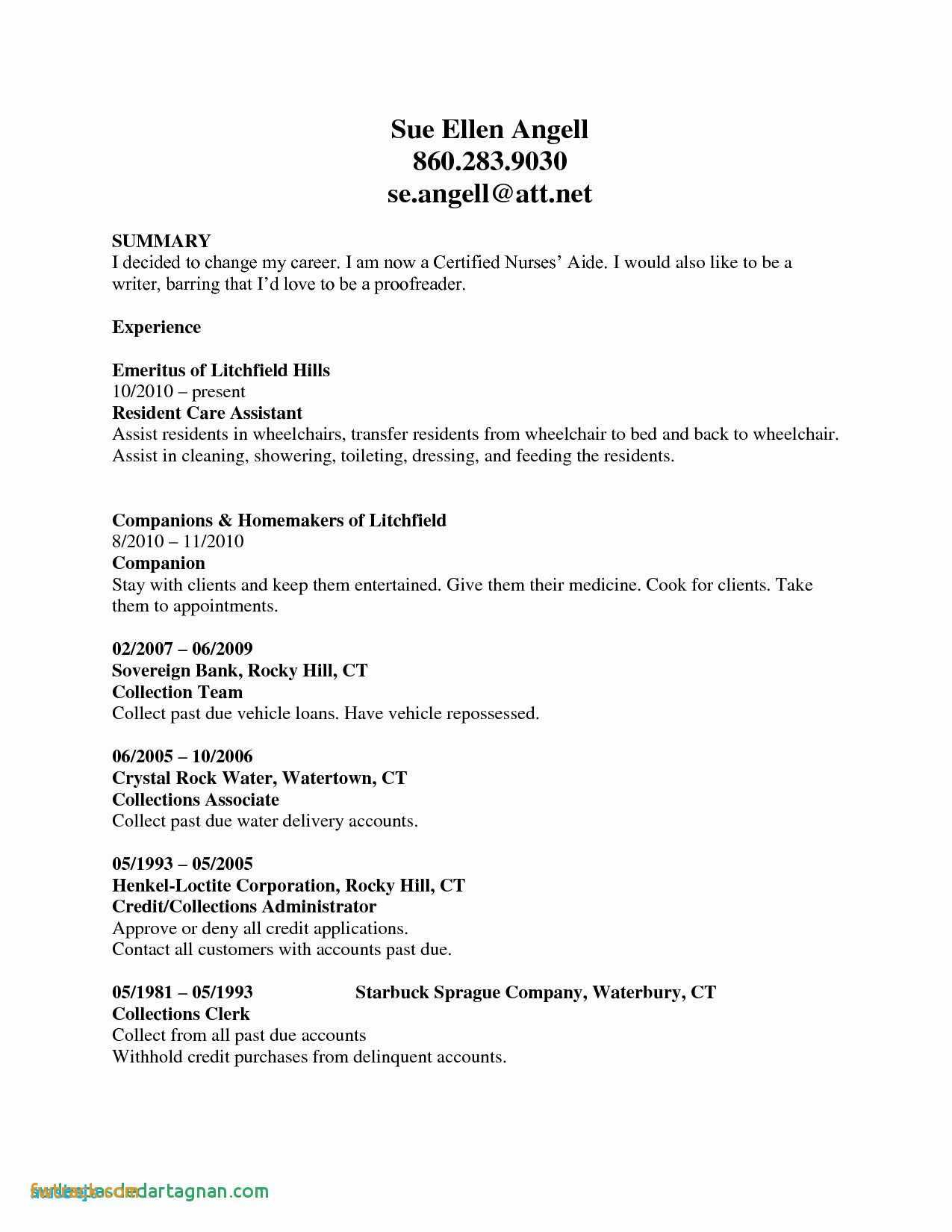 Summary for Resume with No Experience - Resume Templates No Experience Fwtrack Fwtrack