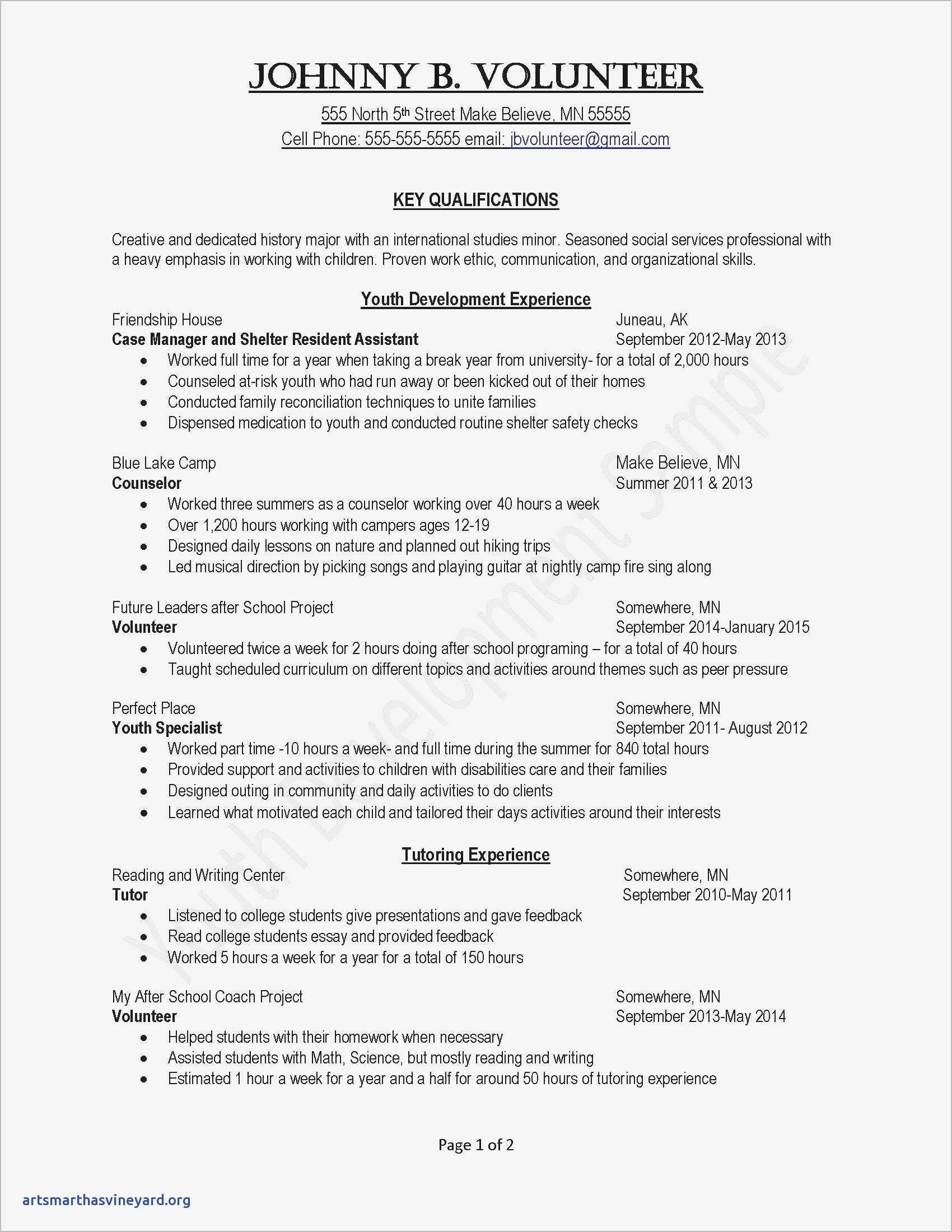 Summer Camp Counselor Responsibilities Resume - Save Financial Counselor Cover Letter
