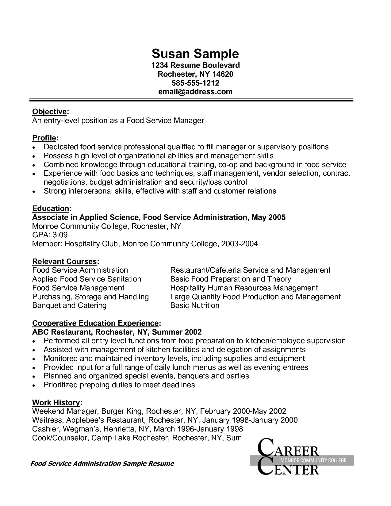 Summer Counselor Resume - 45 Standard Camp Counselor Resume