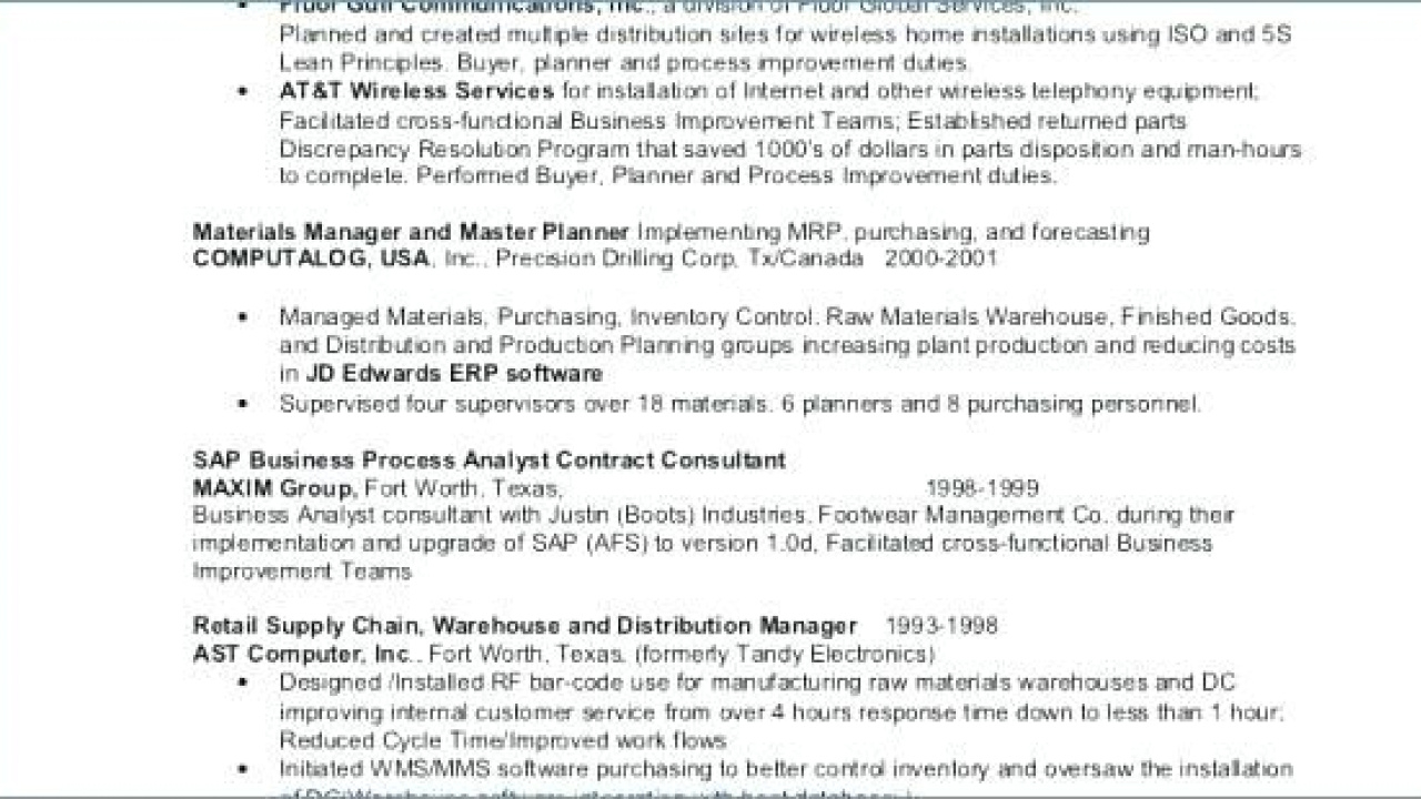 Supply Chain Resume Examples - Fresh Supply Chain Resume Examples Pics