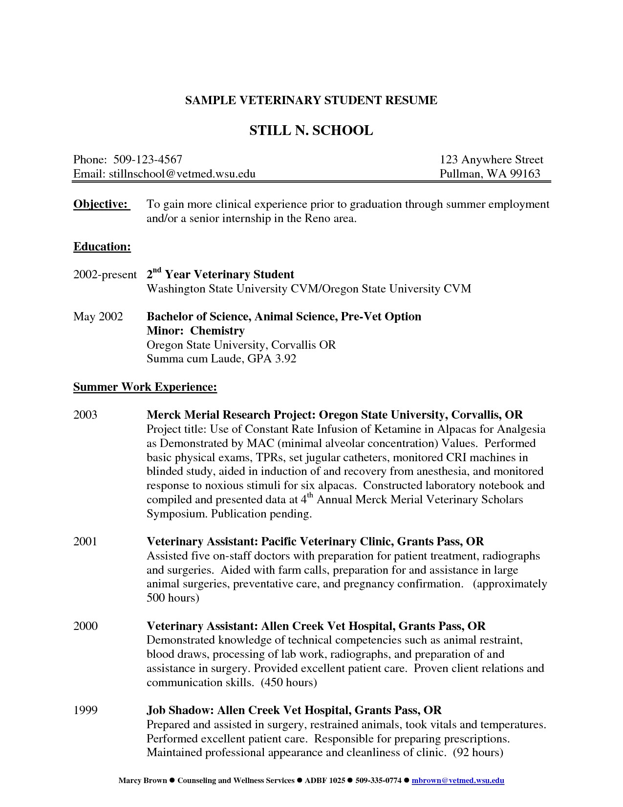 Surgical Tech Resume Template - 46 Best Internship Resume Examples