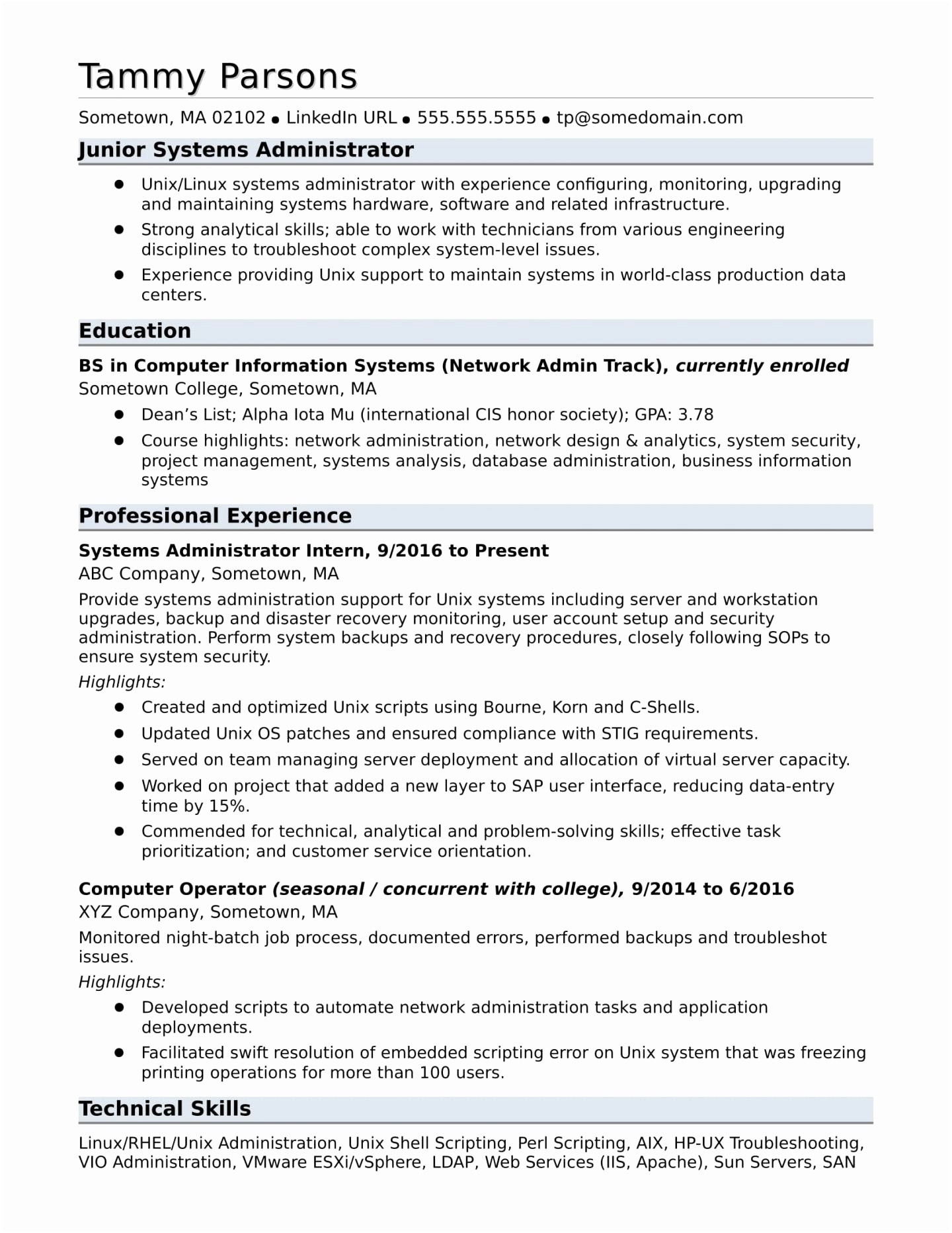 System Administrator Resume Template - Junior Web Developer Resume Utd Resume Template Unique Fishing