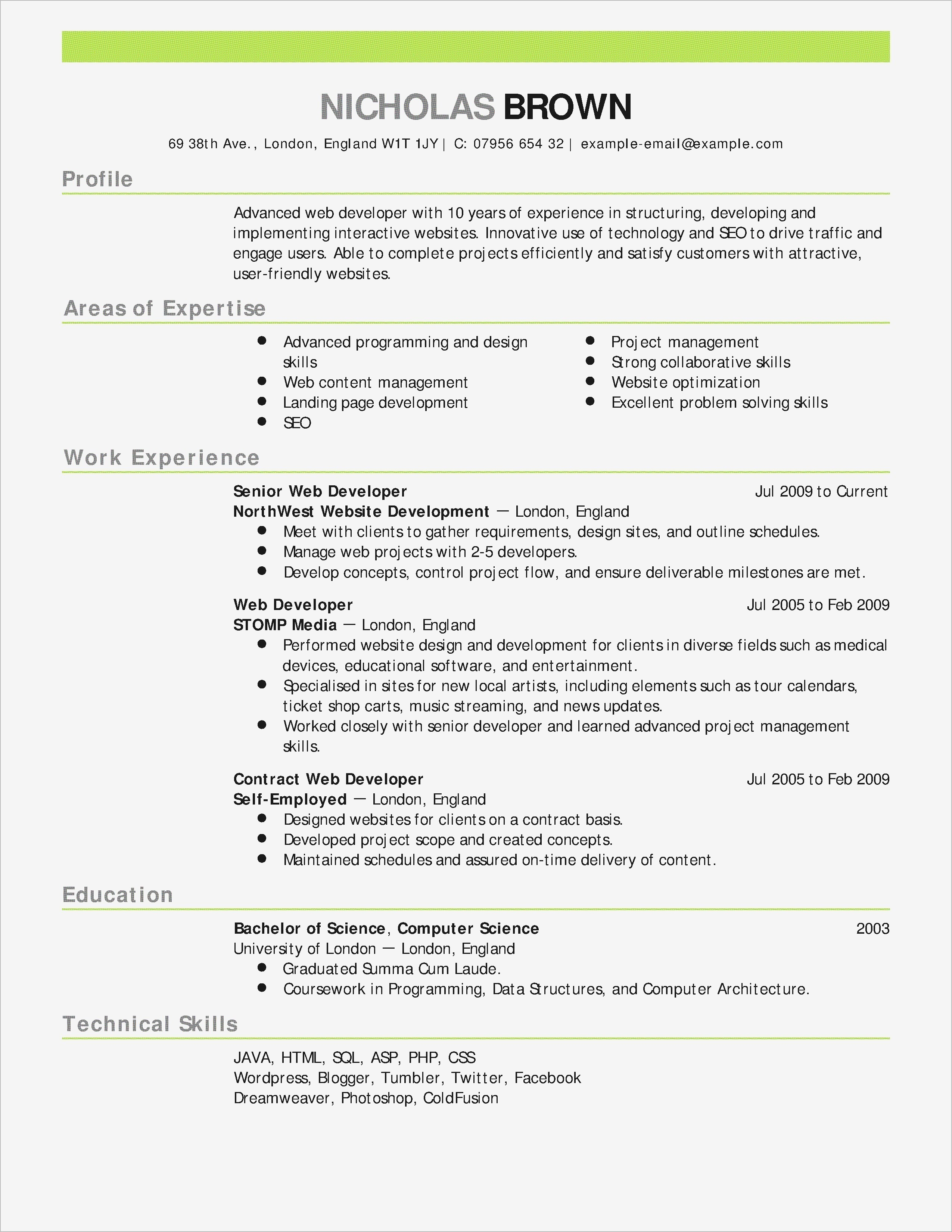 Tableau Developer Resumes - Good Words to Use A Resume